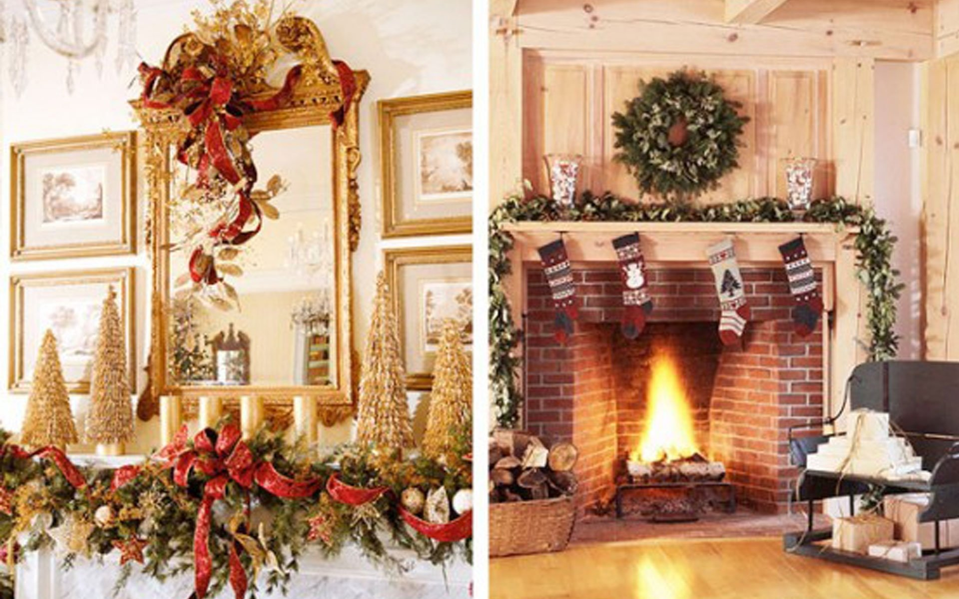10 Wonderful Christmas Decorating Ideas For Mantels fireplace mantel decor ideas home modest christmas decorations on 2020