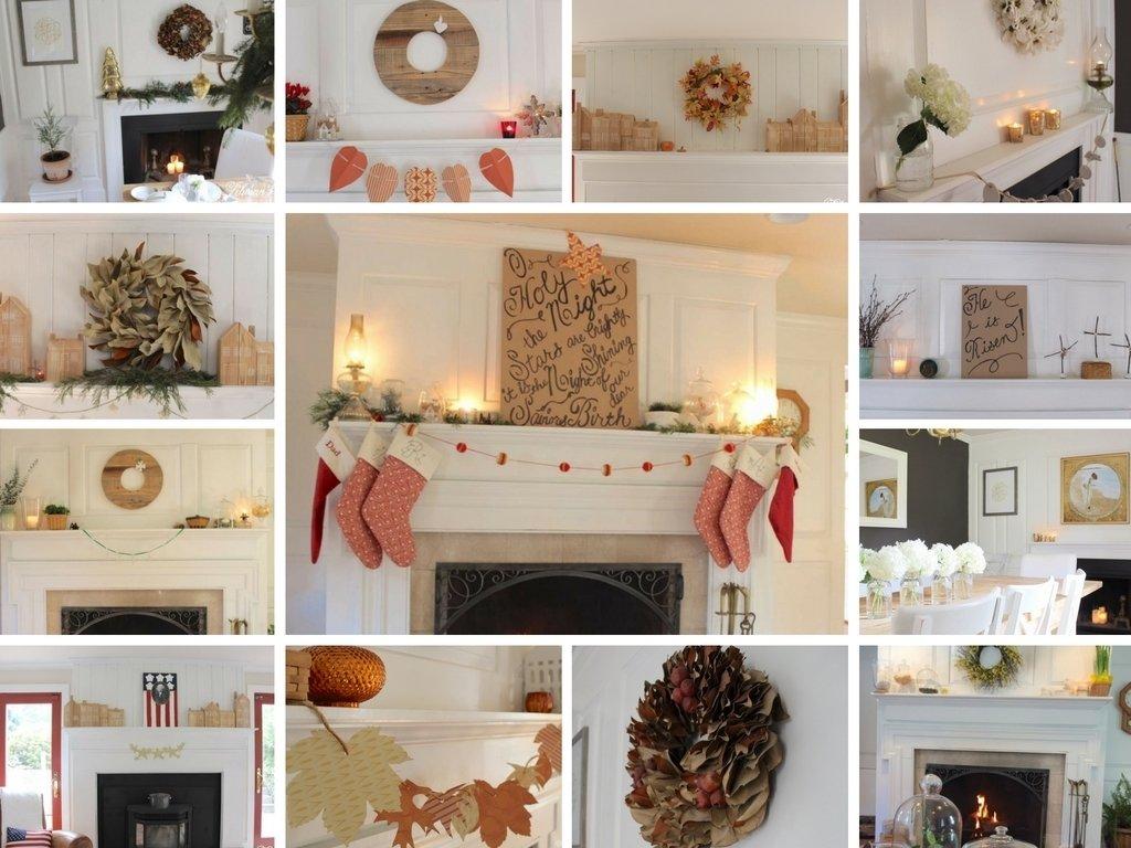 10 Unique Ideas For Fireplace Mantel Decor fireplace mantel decorating ideas for the whole year lehman lane 1