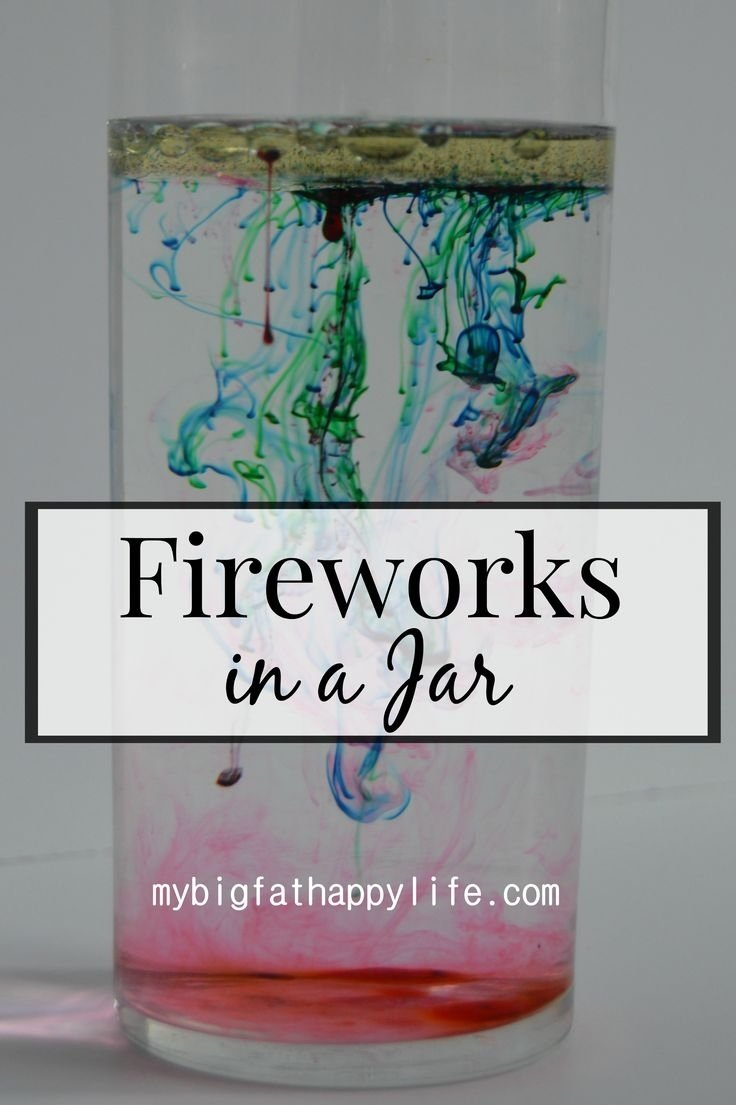 10 Cute Science Project Ideas For Kids fireworks in a jar science experiments jar and activities 2021