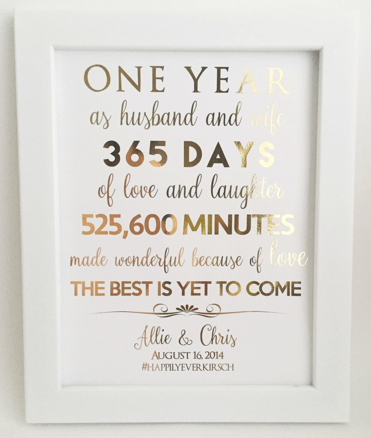 10 Trendy One Year Anniversary Ideas For Wife first 1st anniversary gift anniversary gift for husband or wife 1 2021