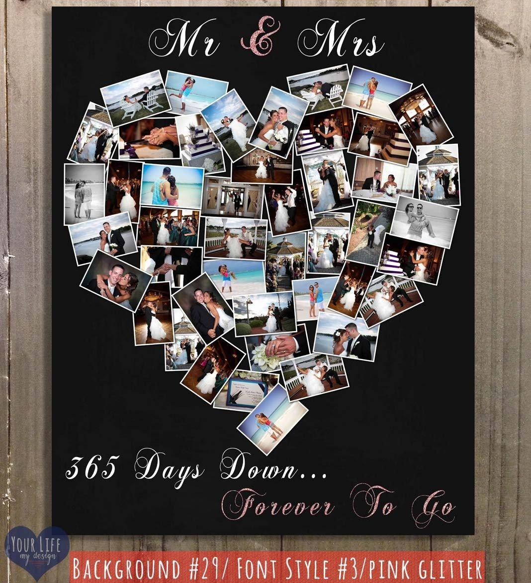 10 Trendy One Year Anniversary Ideas For Wife first anniversary gift anniversary photo collage anniversary gift 1 2021