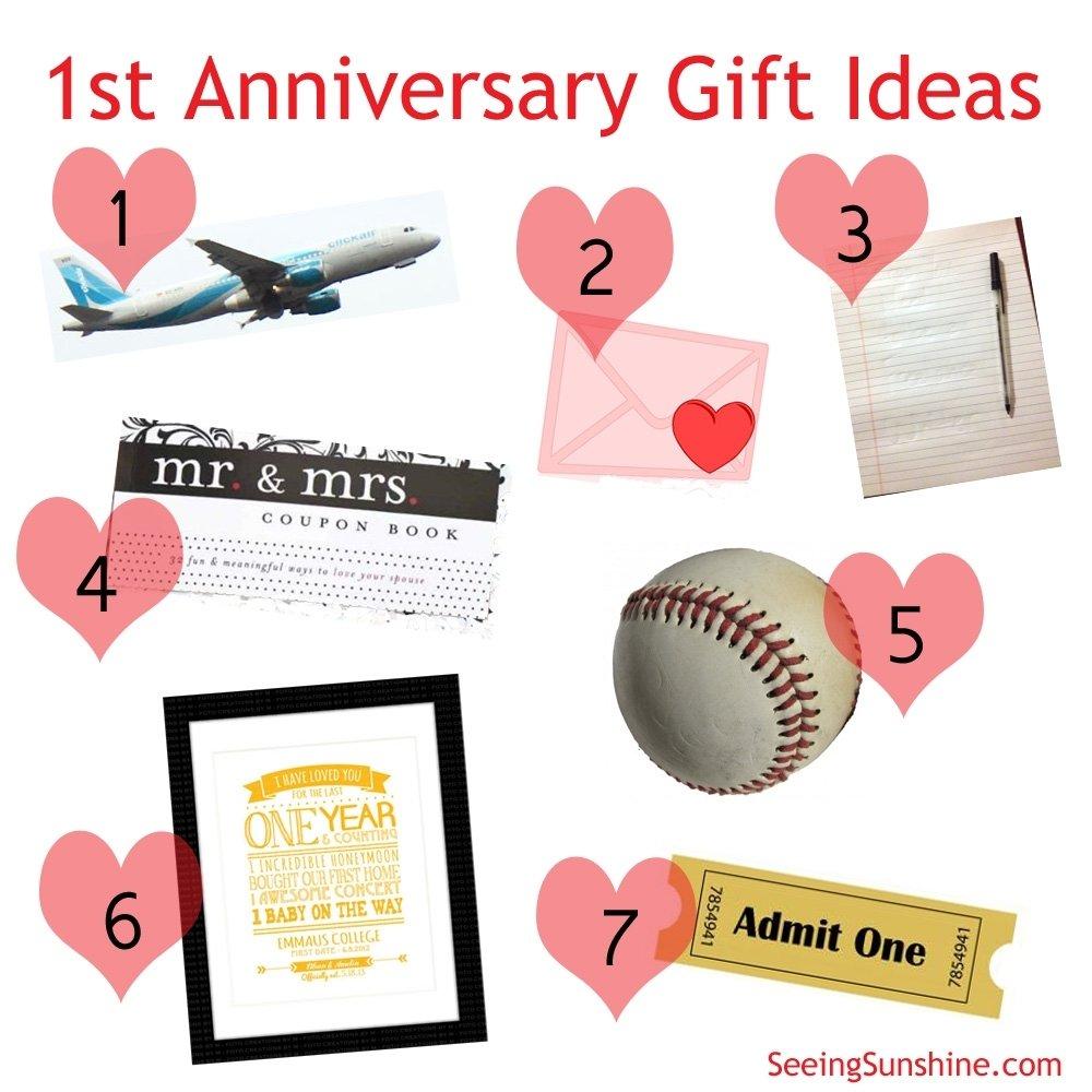 10 attractive one year wedding anniversary gift ideas