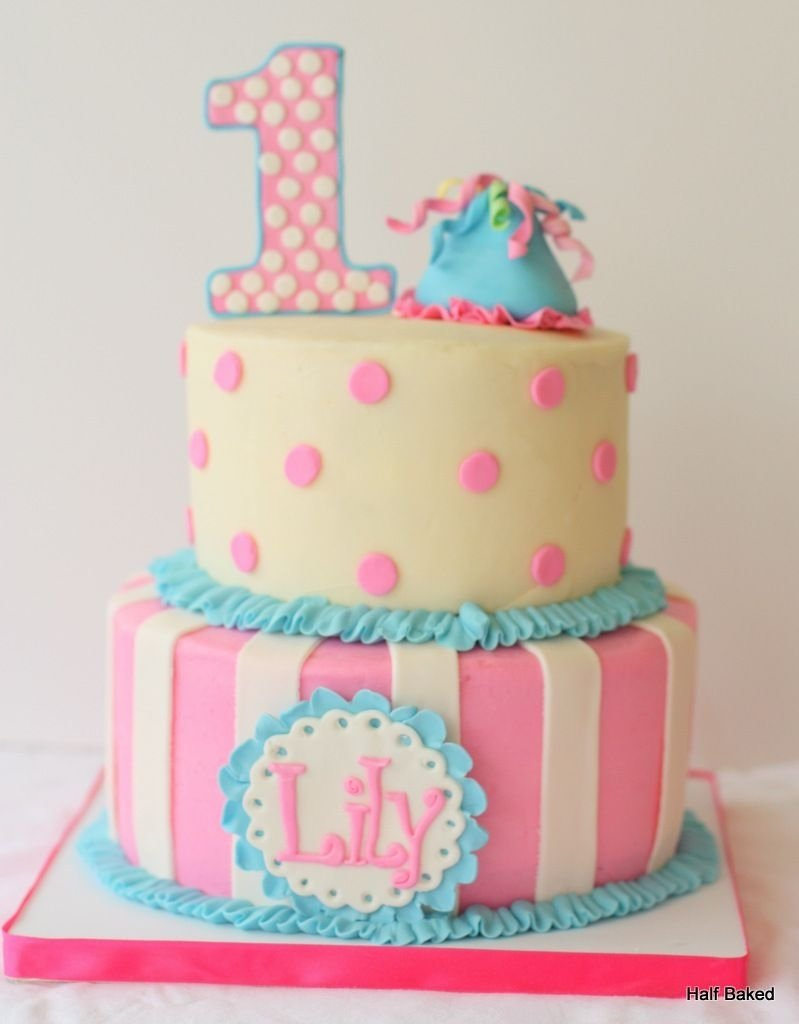 10 Most Popular First Birthday Cake Ideas For Girls first birthday cake made to match the outfit of the party girl cake 2020