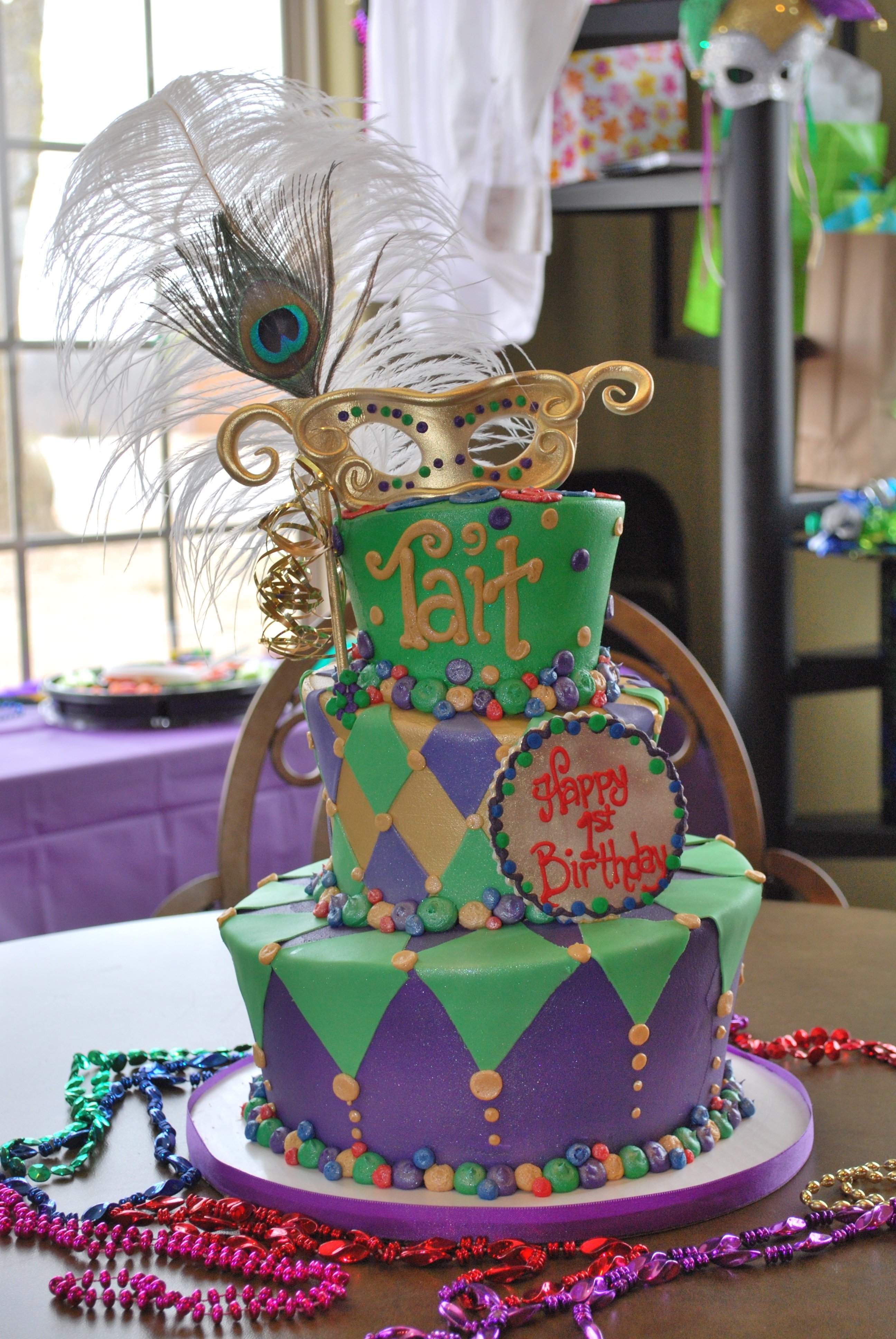 10 Most Recommended Mardi Gras Ideas For A Party first birthday cake mardi gras theme birthday party ideas 2020