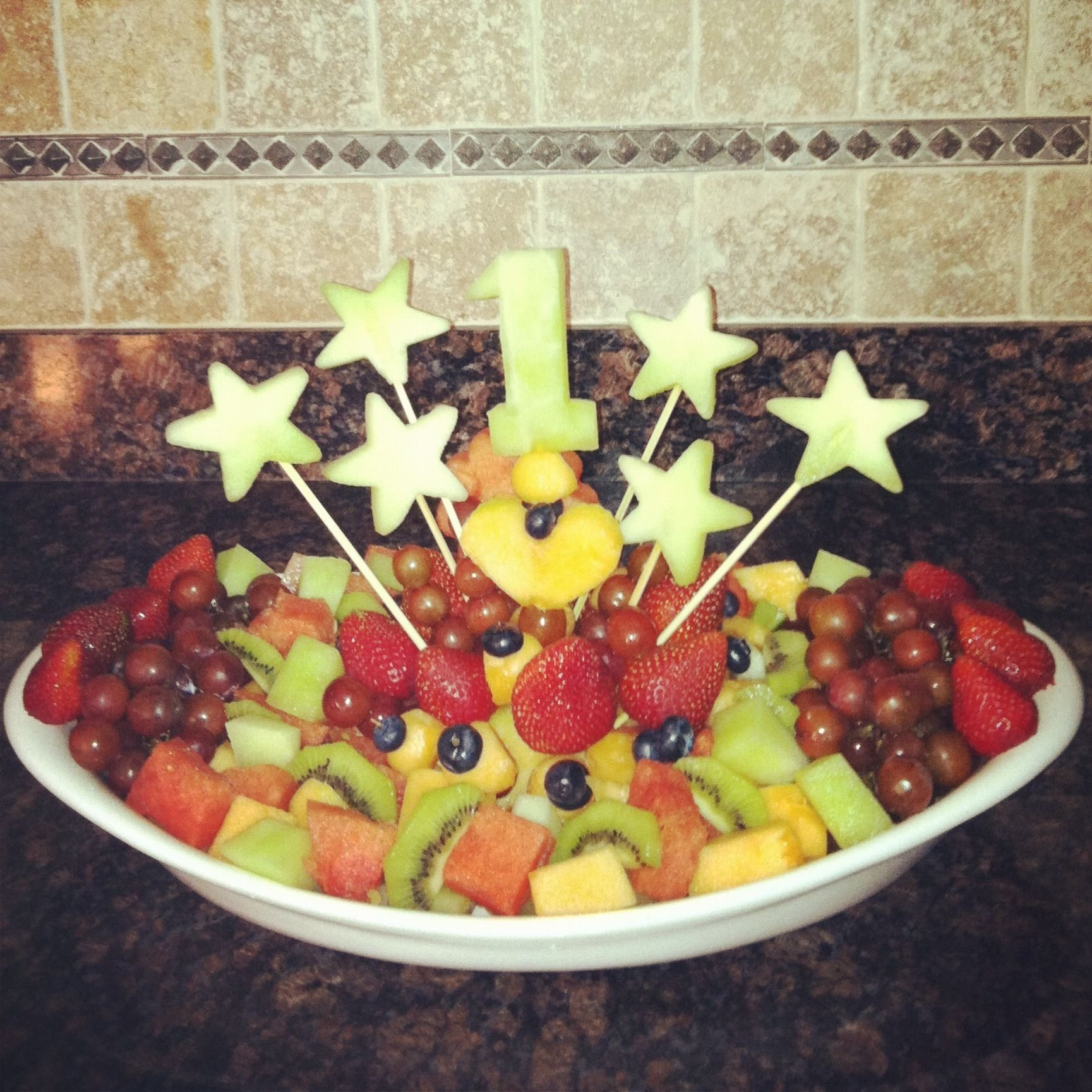 10 Attractive Fruit Tray Ideas For Parties first birthday fruit platter food and drinks pinterest 2021