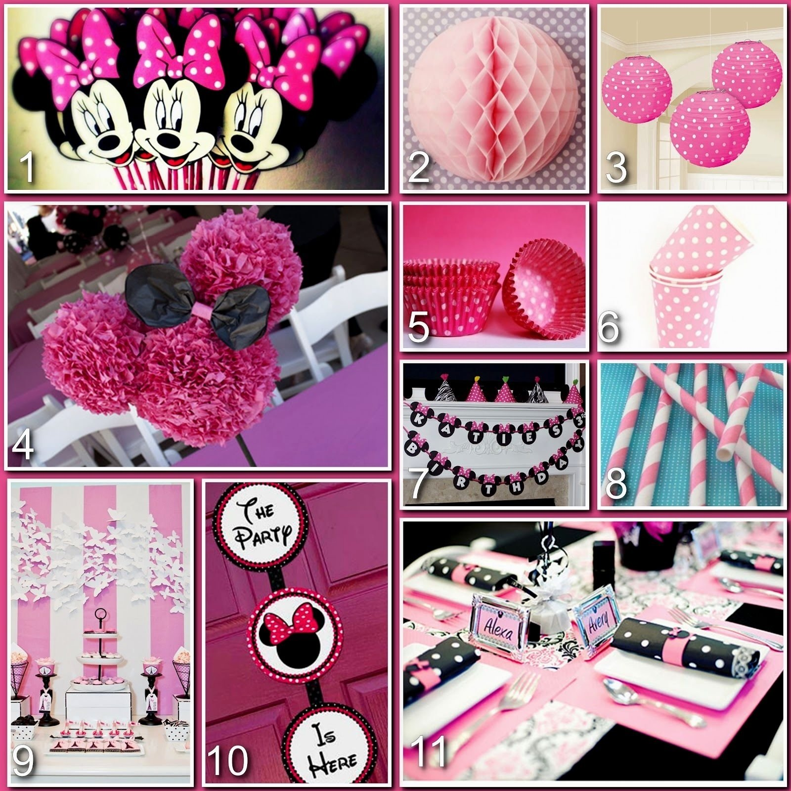 10 Fashionable Minnie Mouse First Birthday Ideas first birthday ideas minnie mouse decorating of party 2021