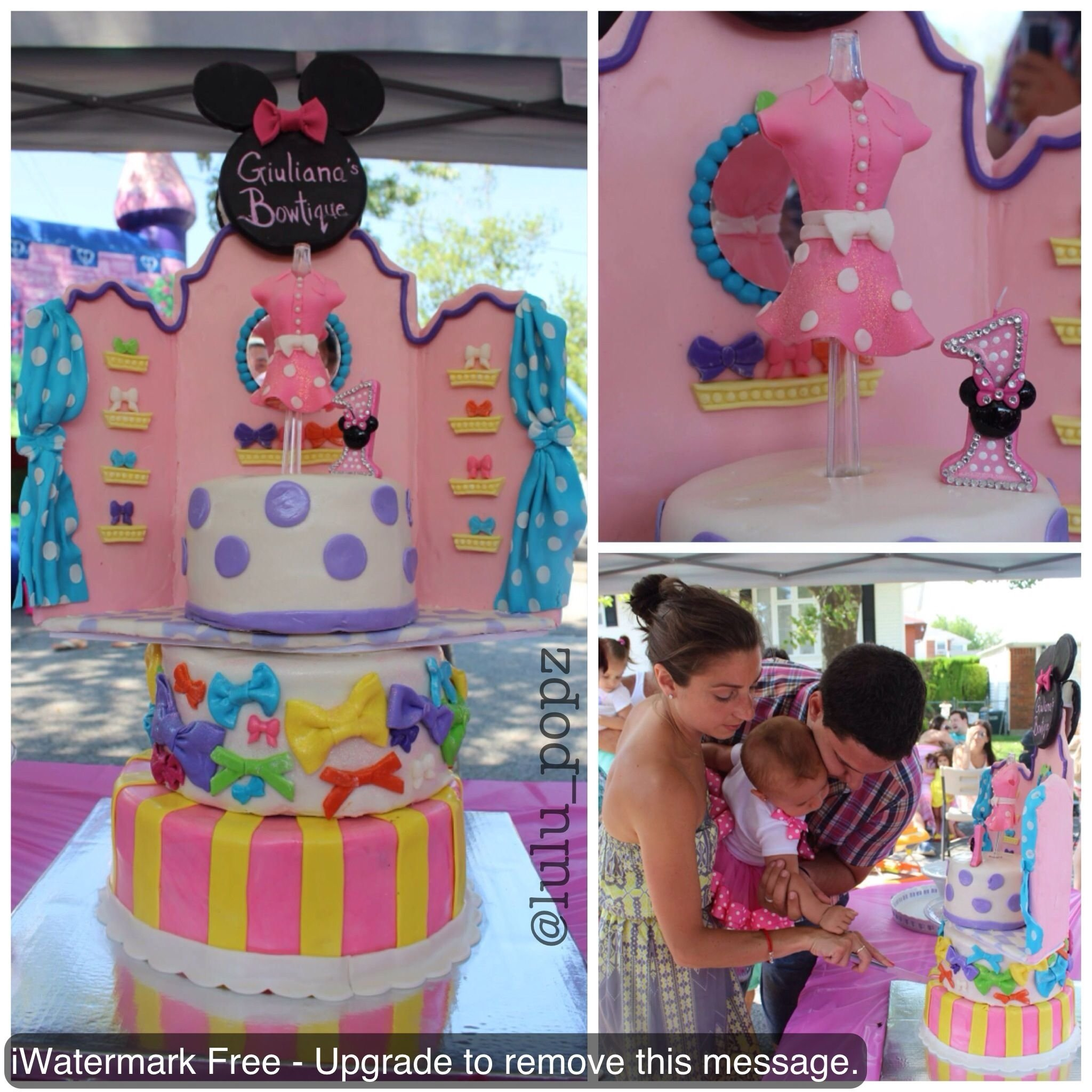 first birthday minnie mouse bowtique cake mademe for ordering