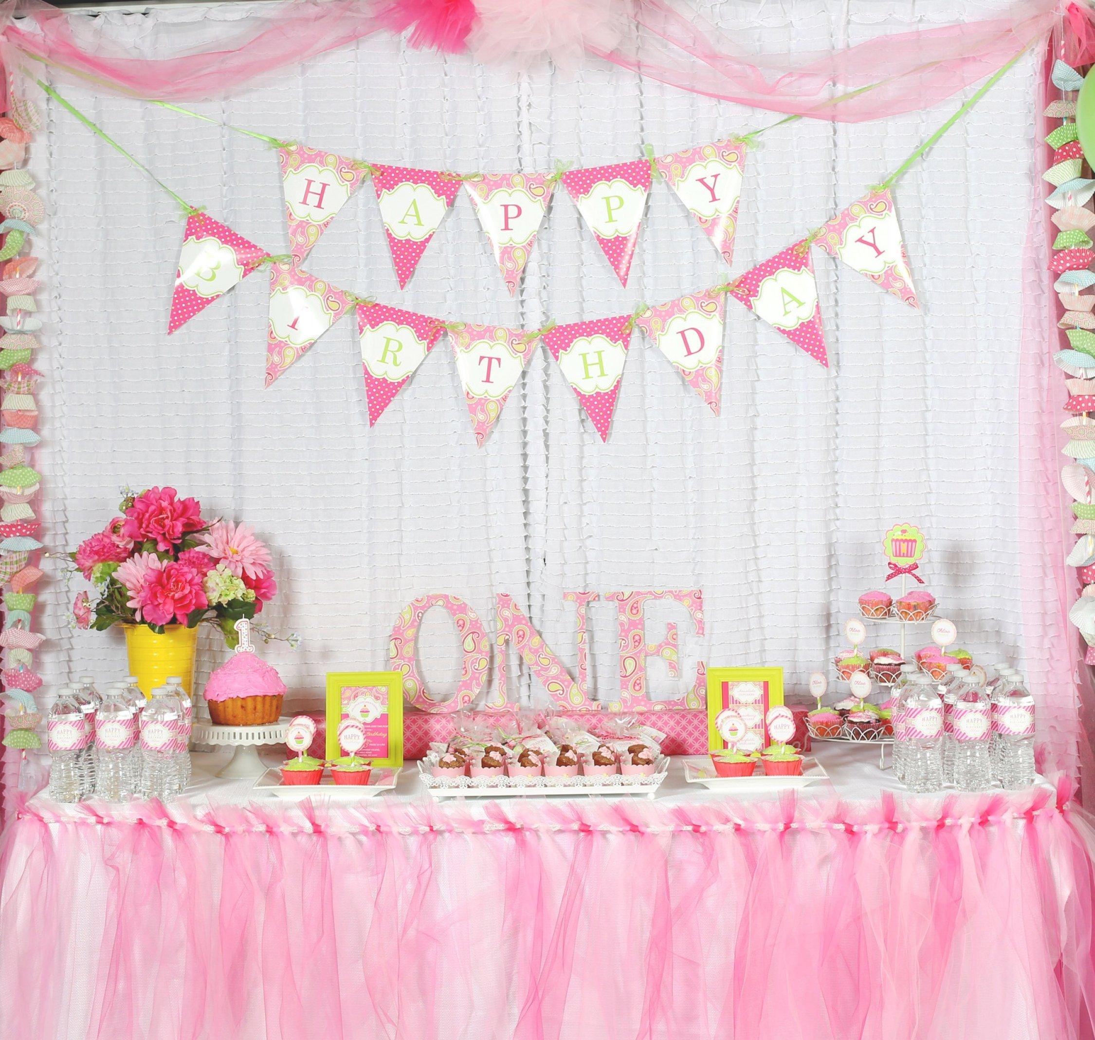 10 Stylish 1St Birthday Party Decoration Ideas first birthday party decoration ideas a cupcake themed 1st birthday