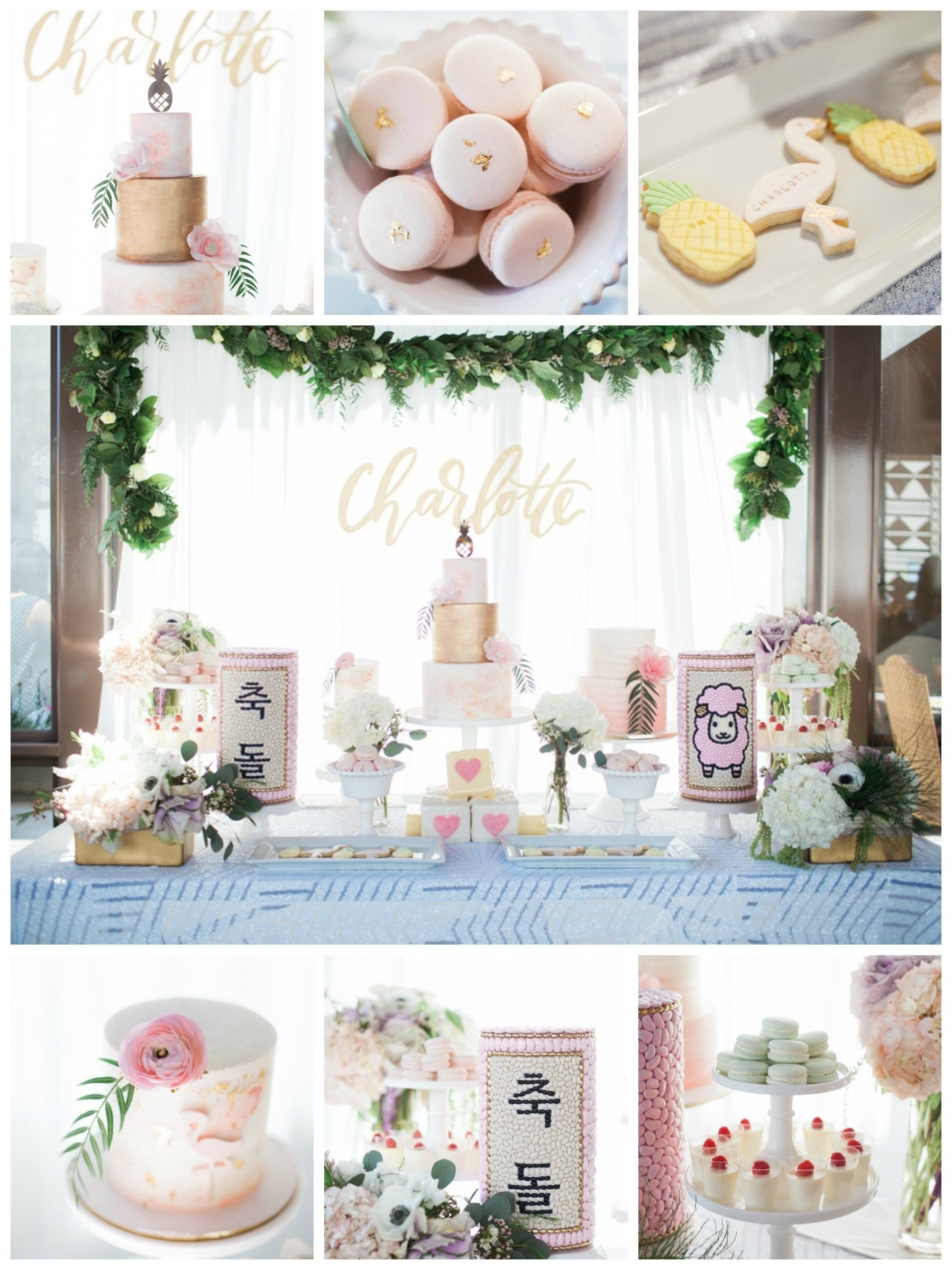 10 Beautiful Simple First Birthday Party Ideas first birthday party hawaiian theme pastel colors white pink gold 2021