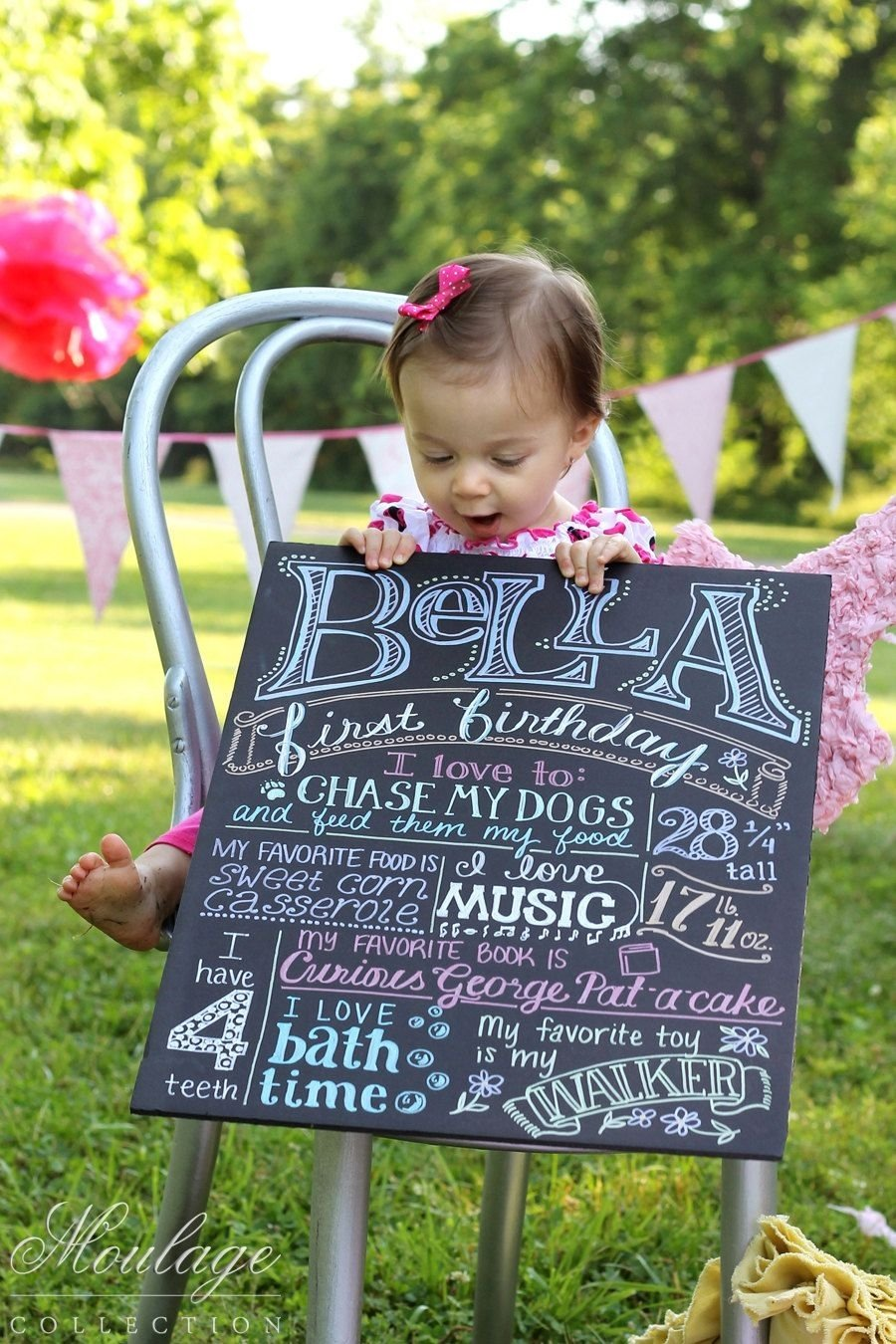 first birthday poster - $32.00, via etsy. | way in the future cute