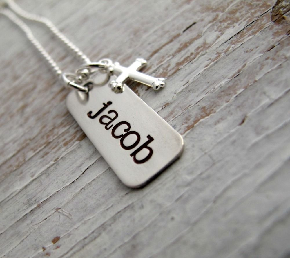 10 Awesome Confirmation Gift Ideas For Boys first communion necklace confirmation gift hand stamped necklace 2020