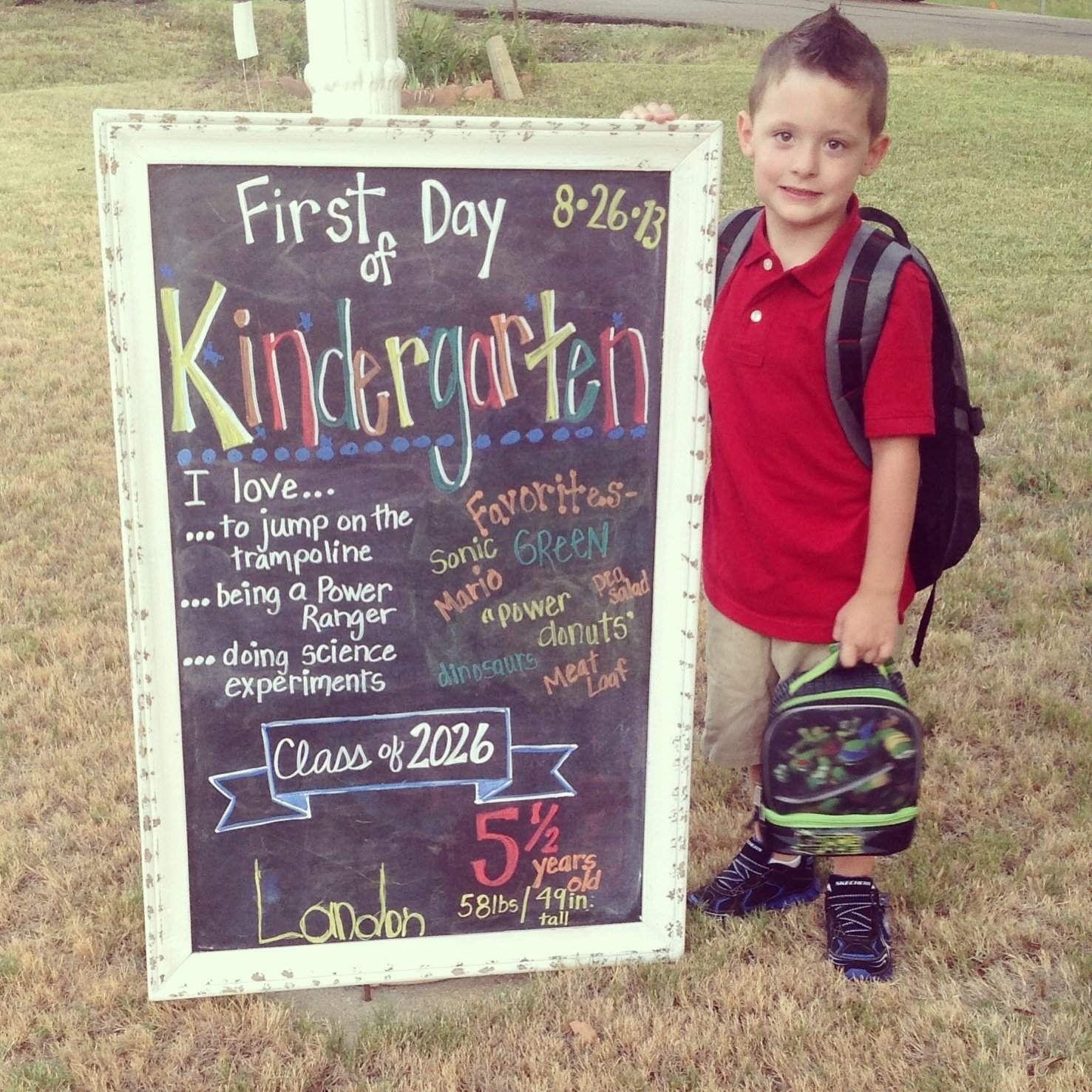 10 Spectacular First Day Of Kindergarten Picture Ideas first day of kindergarten chalkboard things ive made 2