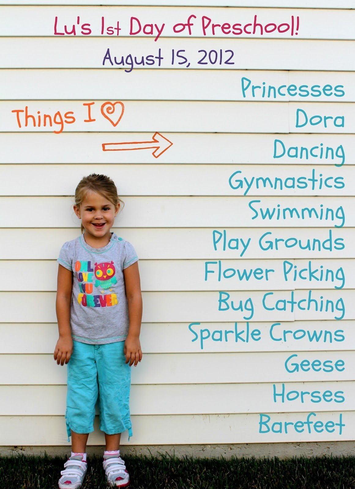 10 Spectacular First Day Of Kindergarten Picture Ideas first day of school photo ideas family traditions and memories
