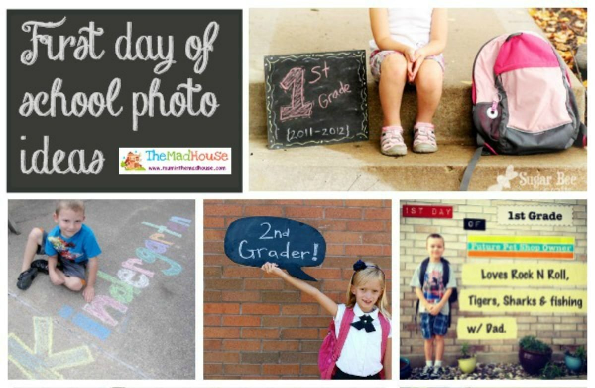 first day of school photo ideas - mum in the madhouse