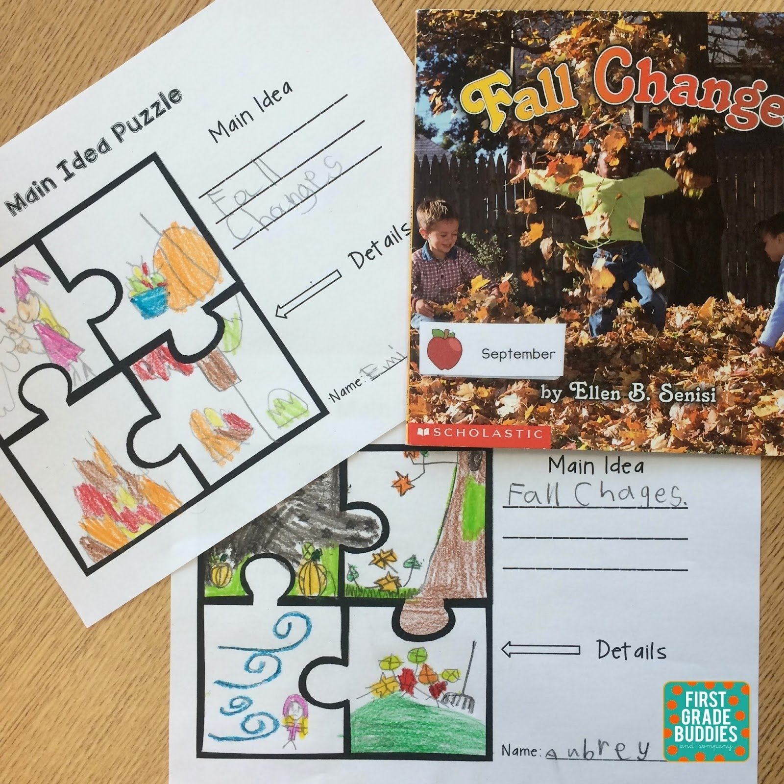 10 Stunning Main Idea Of A Book first grade buddies determining the central message and identifying 3 2021