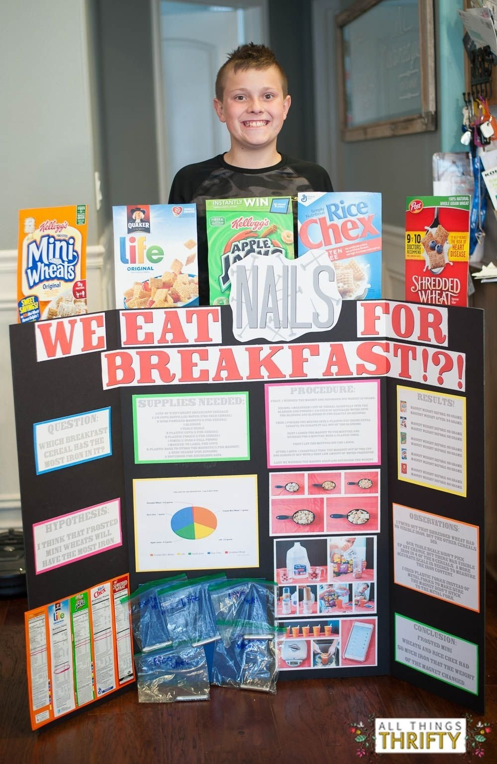 first place elementary school science fair project! | science fair
