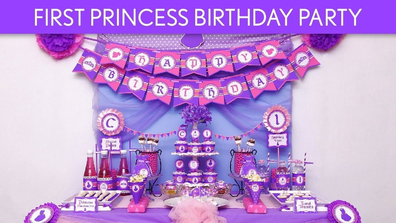 first princess birthday party ideas // first princess - b85 - youtube