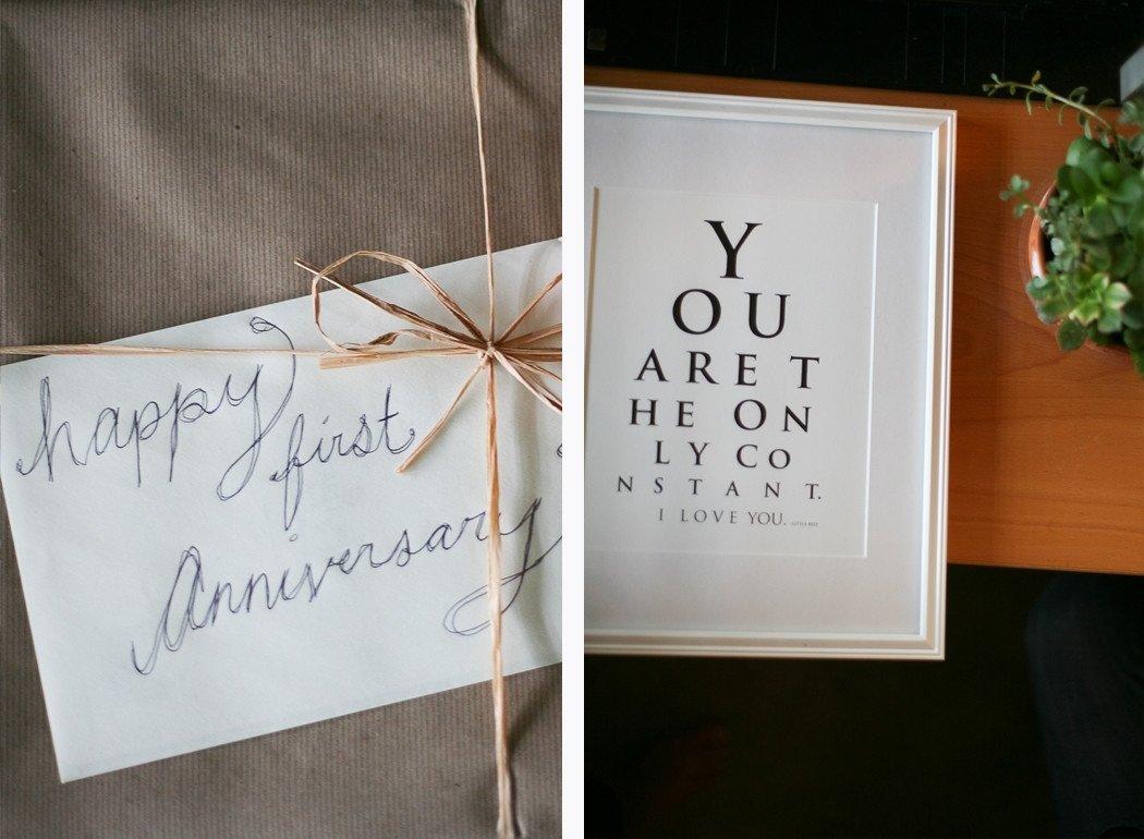 first year wedding anniversary gift - wedding ideas | one year