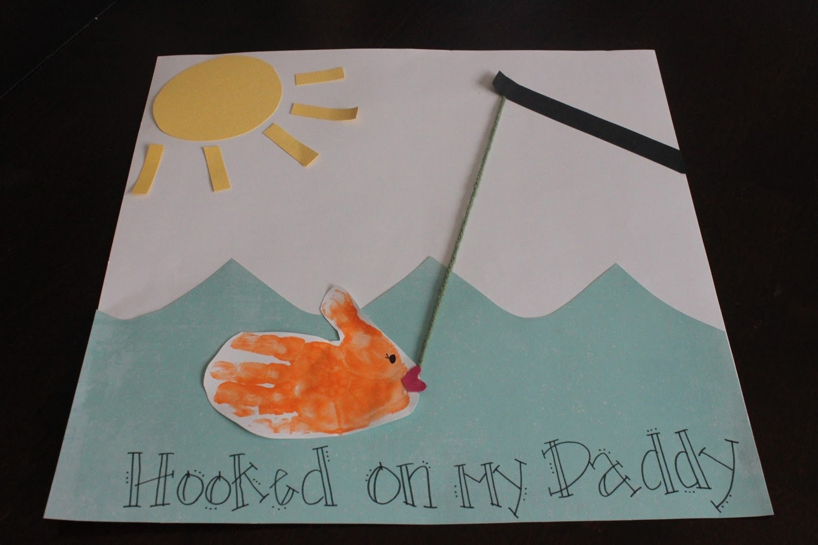 fish card for kids. dad birthday craft or father's day. | handmade