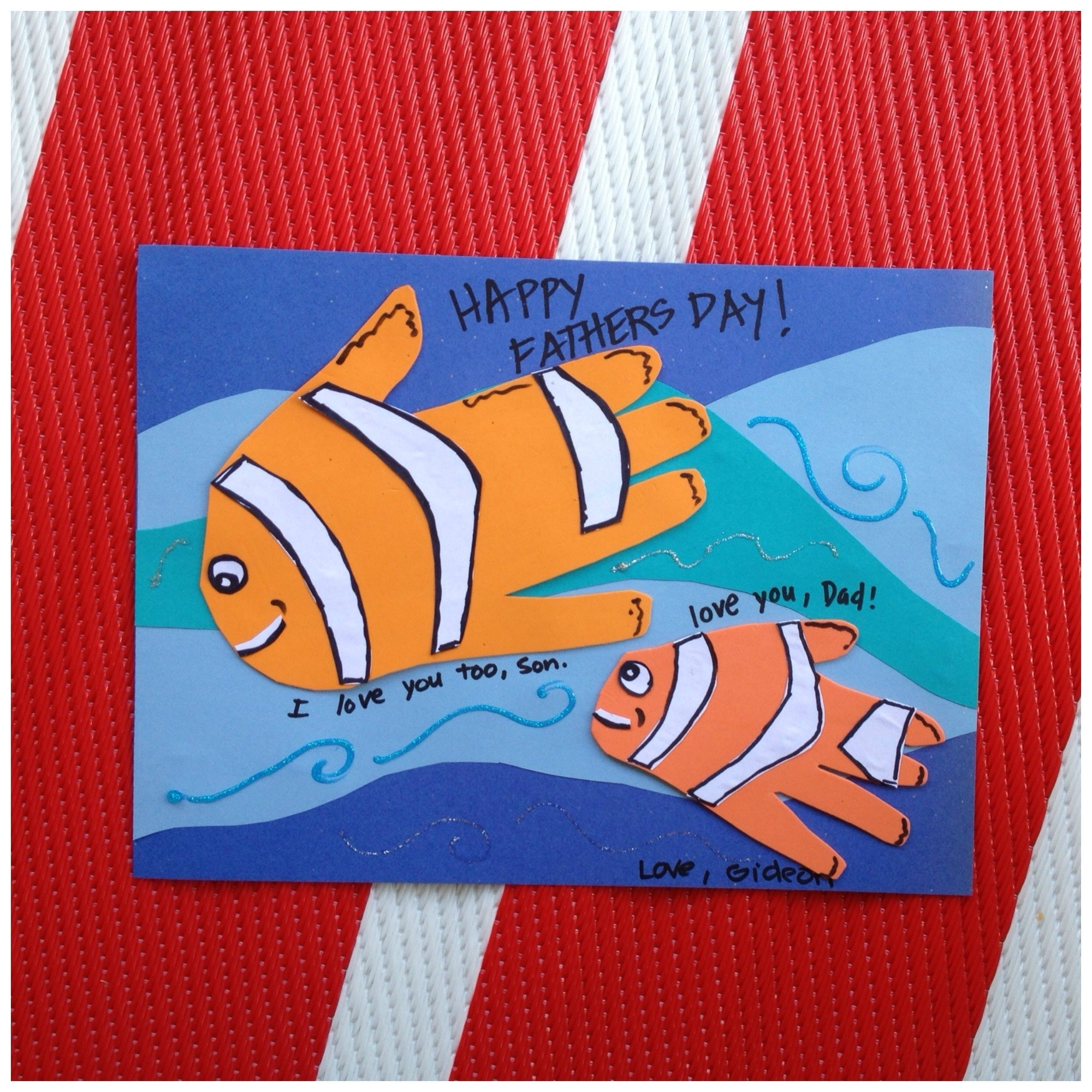 10 Elegant Fathers Day Ideas For Toddlers fish handprint fathers day craft c2b7 kix cereal