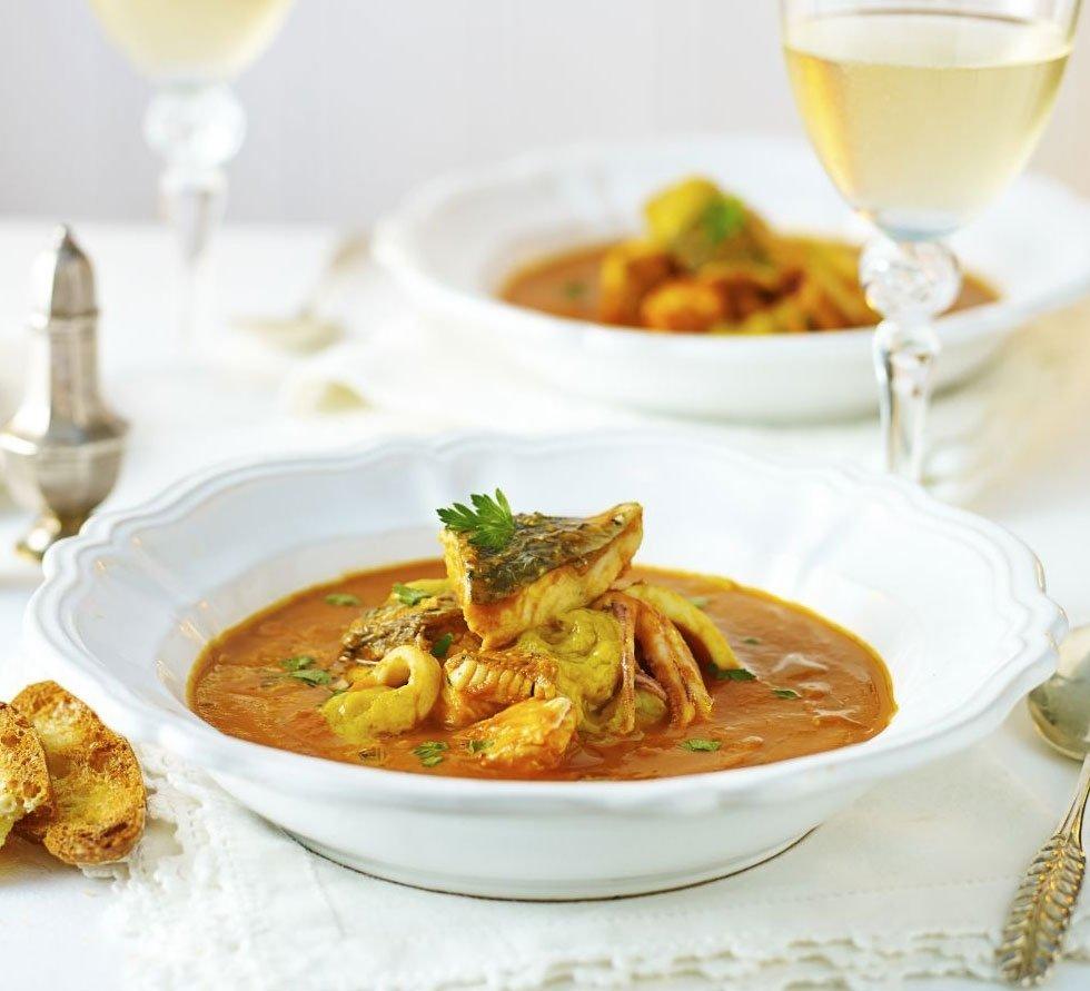 10 Attractive Easy Dinner Party Menu Ideas fish stew with roast garlic saffron recipe bbc good food 2 2020