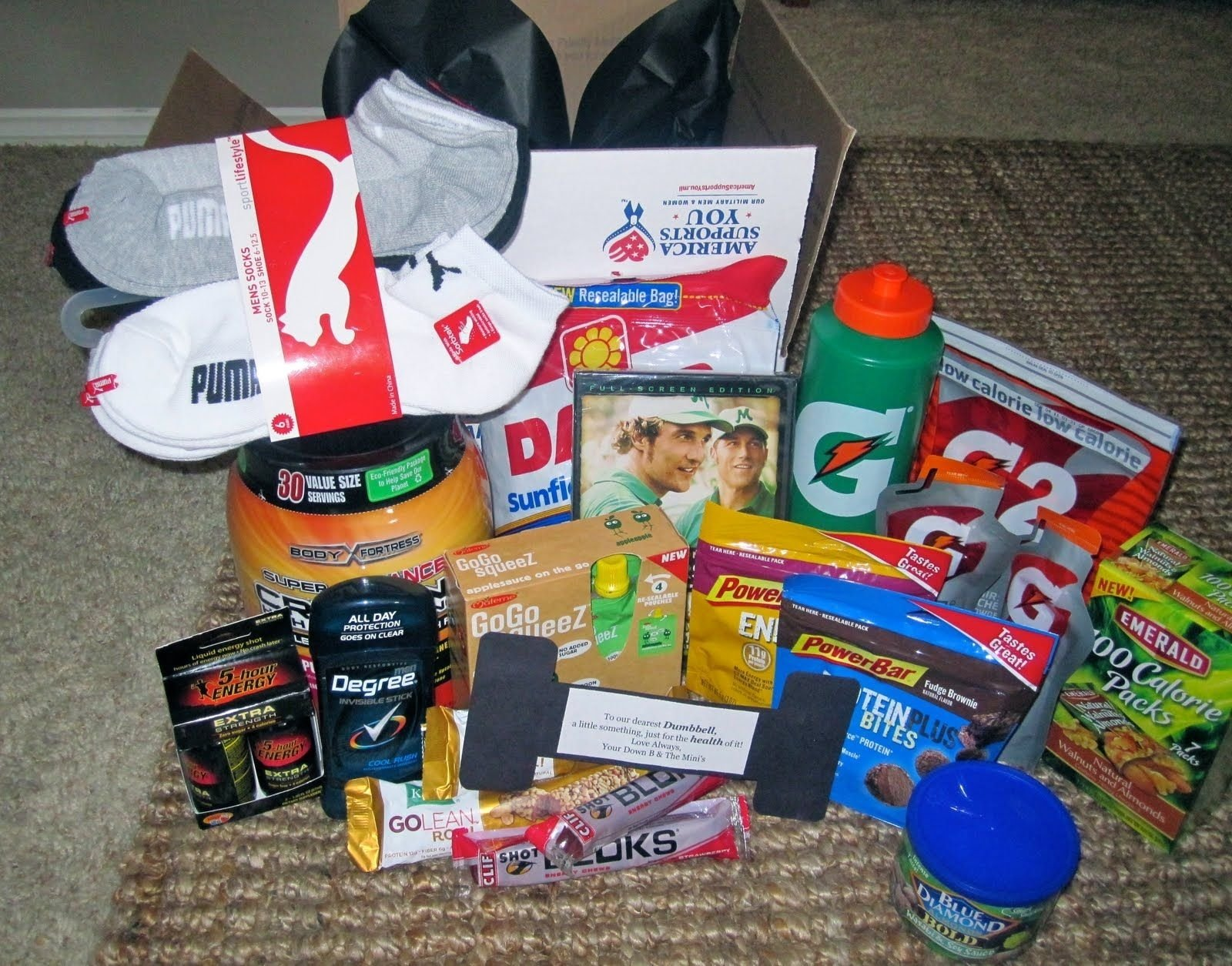 10 Most Popular Care Package Ideas For Soldiers fitness theme care package care package ideas pinterest gift 1 2021