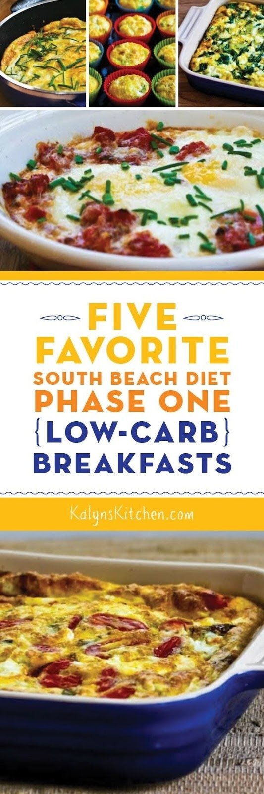 five favorite south beach diet phase one (low-carb) breakfasts