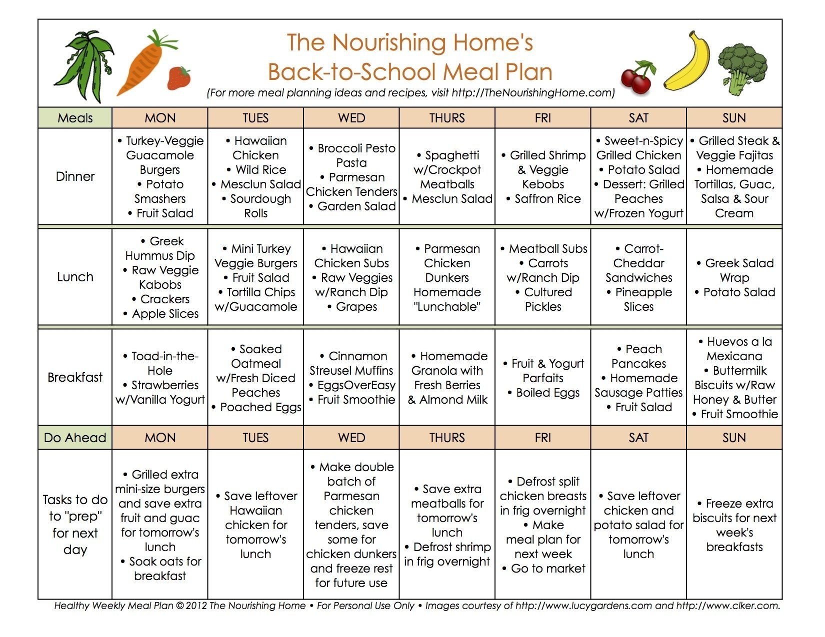 10 Fantastic Healthy Menu Ideas For The Week five tips for creating healthy back to school meal plans school 2020