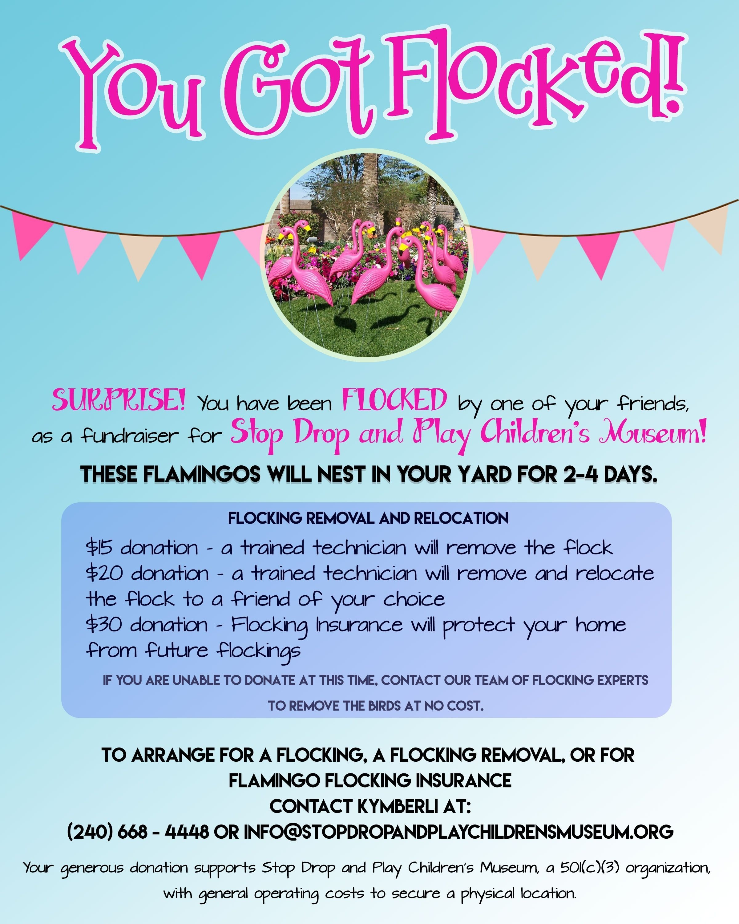 10 Lovely Fundraiser Ideas For Small Groups flamingo flocking fundraiser stop drop and play childrens museum 2020