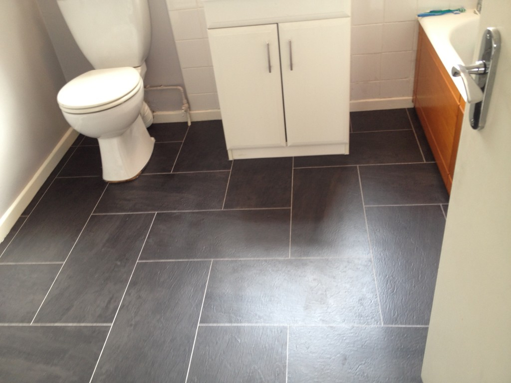10 Wonderful Tile Flooring Ideas For Bathroom floor bathroom dark gray vinyl tiles for bathroom tile flooring ideas 2021