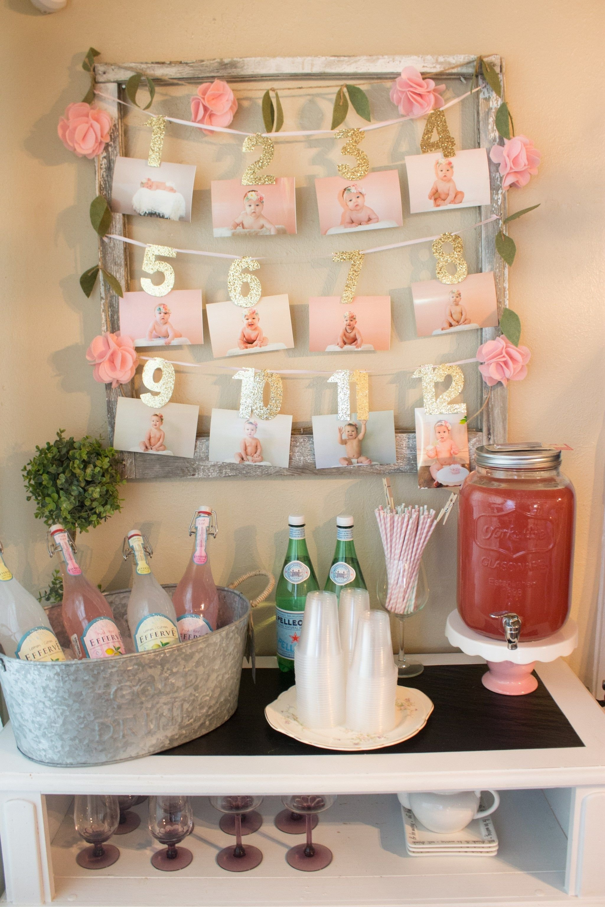 10 Lovable Baby Girl First Birthday Ideas floral first birthday drink bar themed parties and display 2020