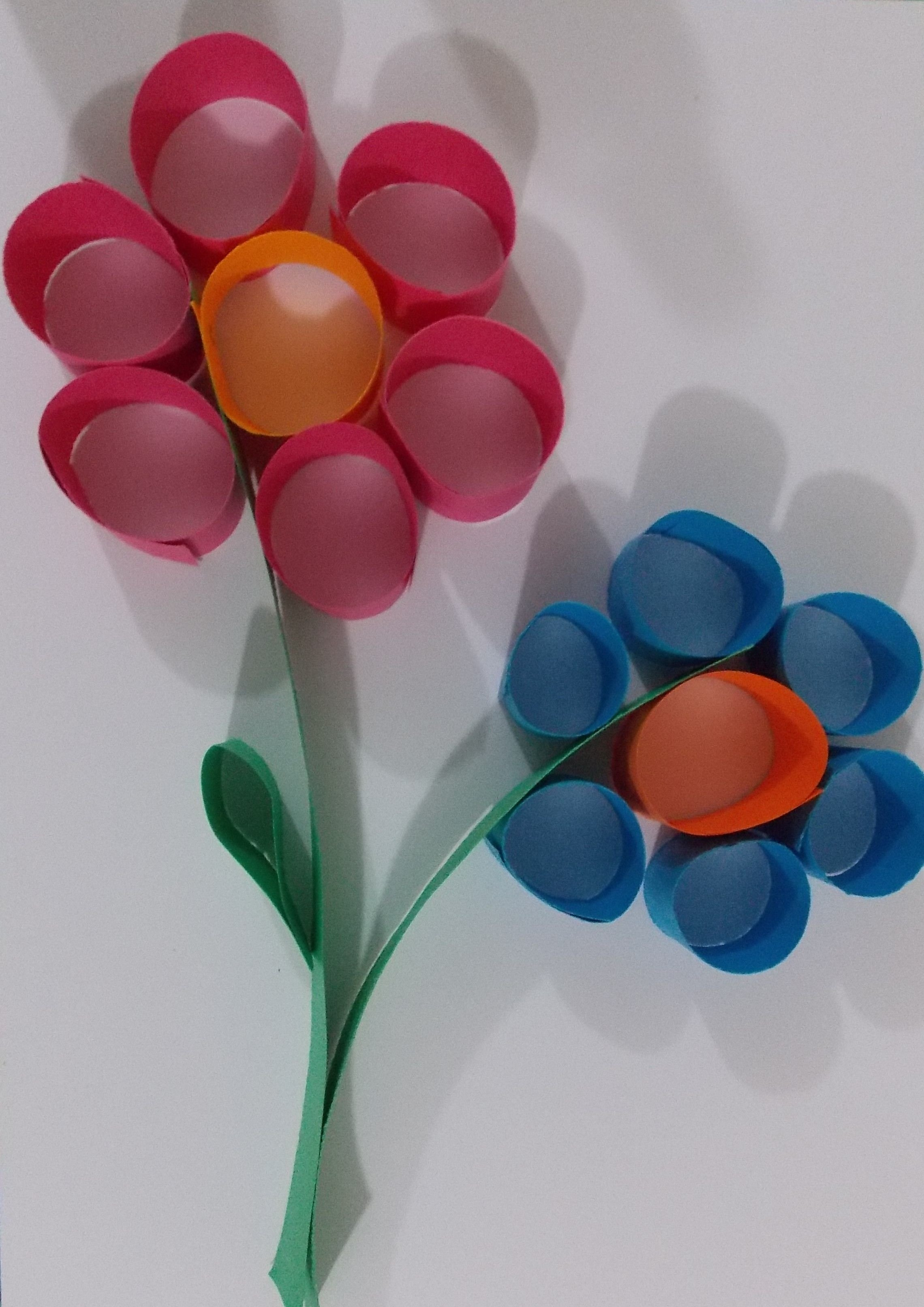flower paper craft | easy paper crafts, easy art projects and easy art
