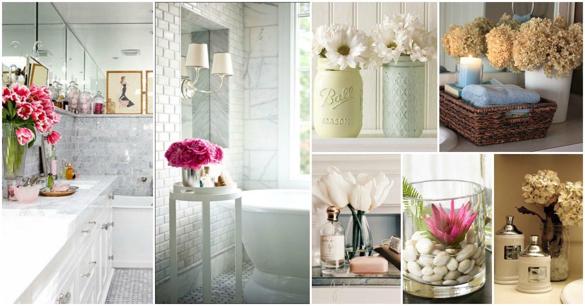10 Stylish Ideas For Decorating A Bathroom flowers bathroom decor ideas that will refresh your bathroom 2020