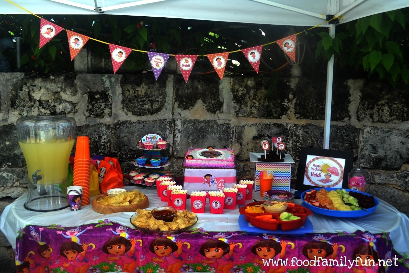 10 Stunning Inexpensive Birthday Party Ideas For Adults food family fun dora the explorer birthday party on a budget 2