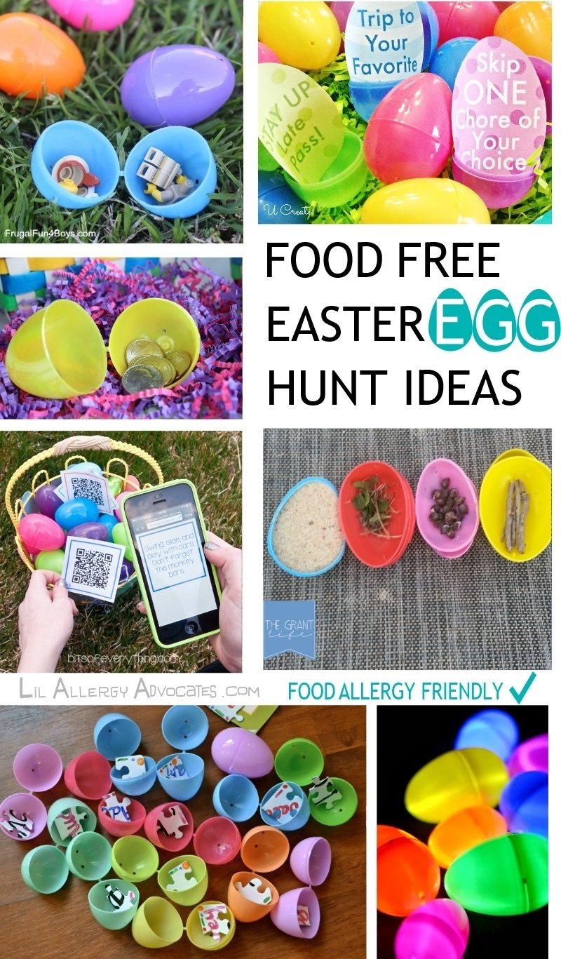 10 Ideal Ideas To Put In Easter Eggs food free easter egg hunt ideas lil allergy advocates 2020