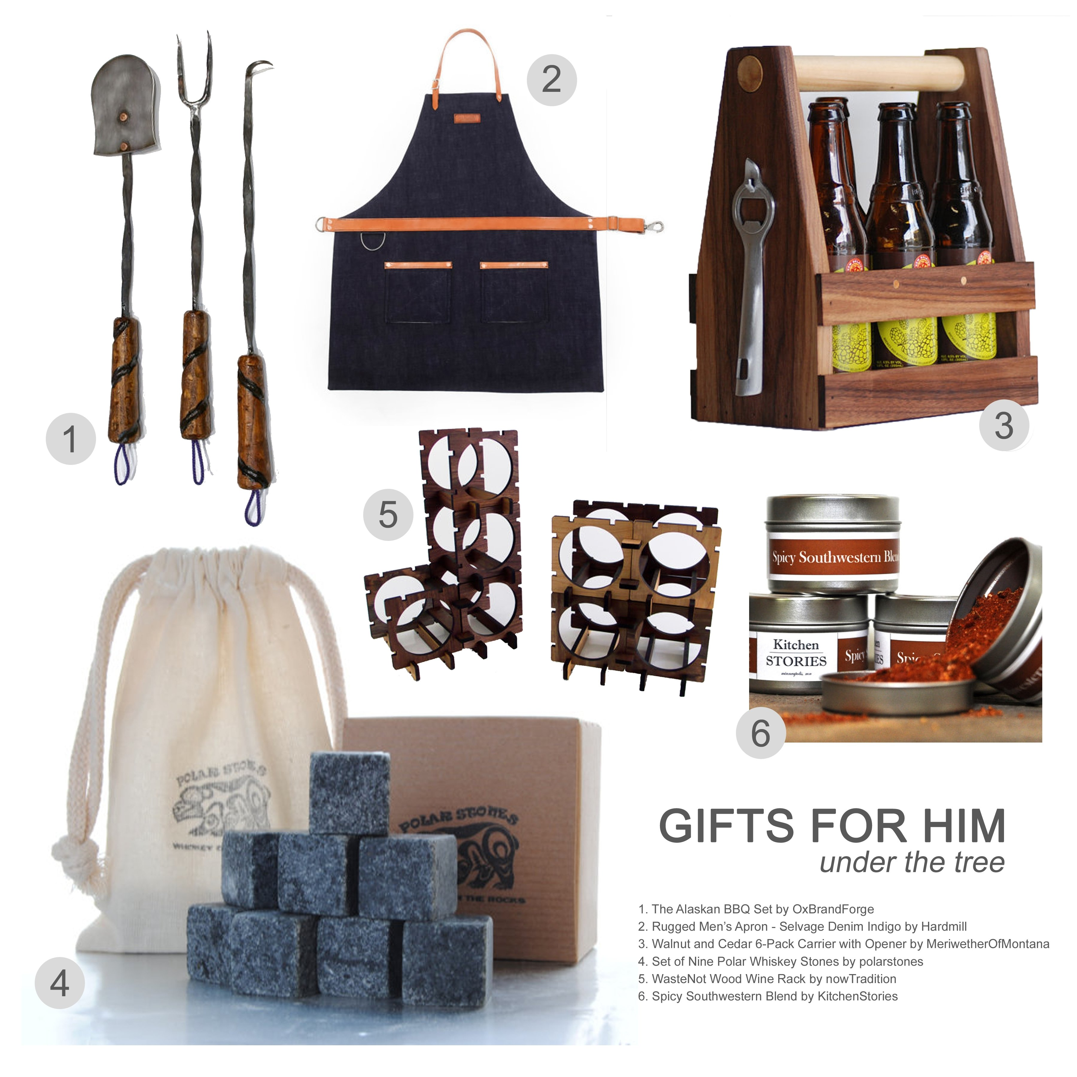 foodie gift guide 2013: gifts for him