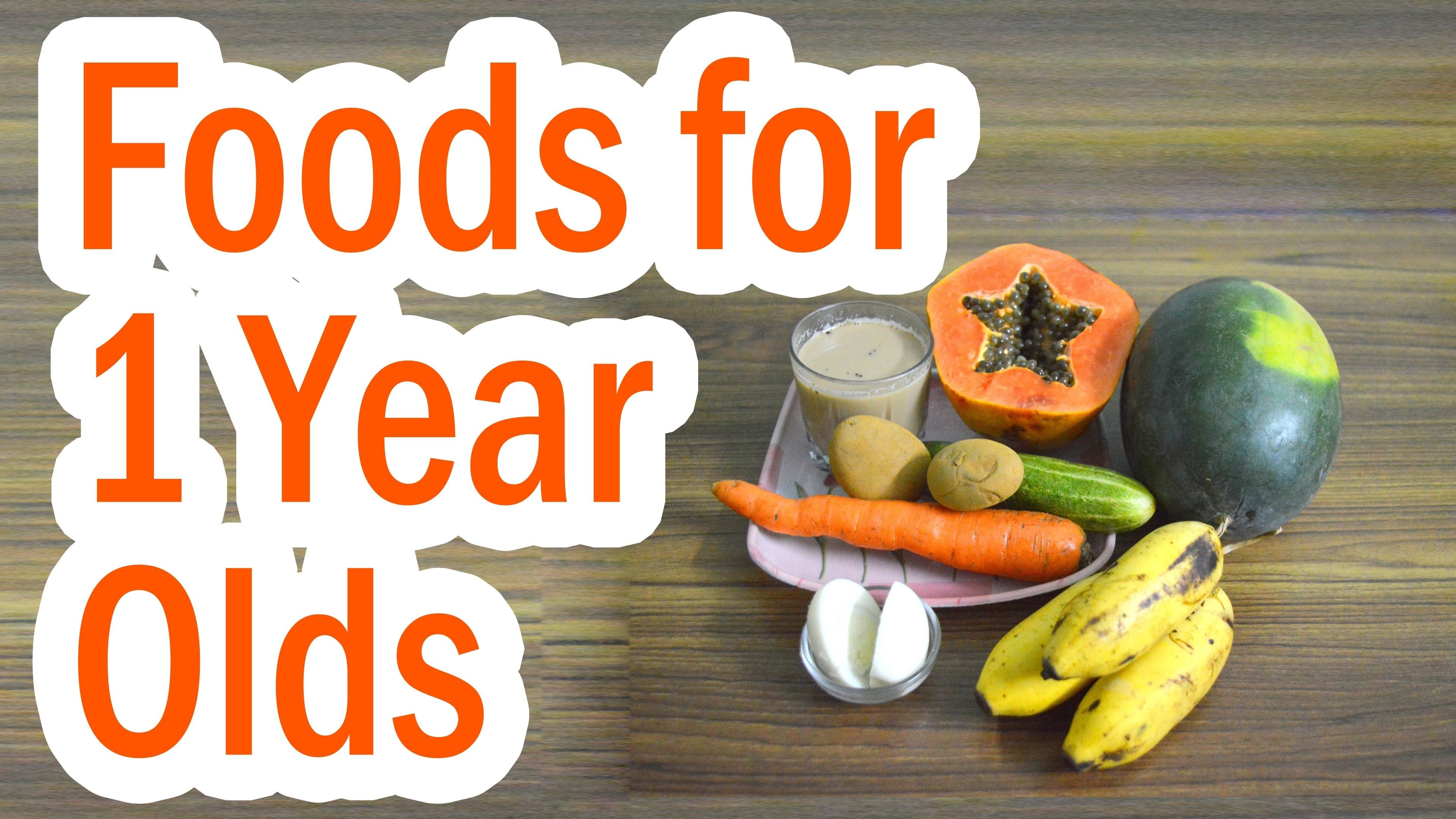 10 Nice Food Ideas For 1 Year Old foods that 1 year olds like youtube 2020