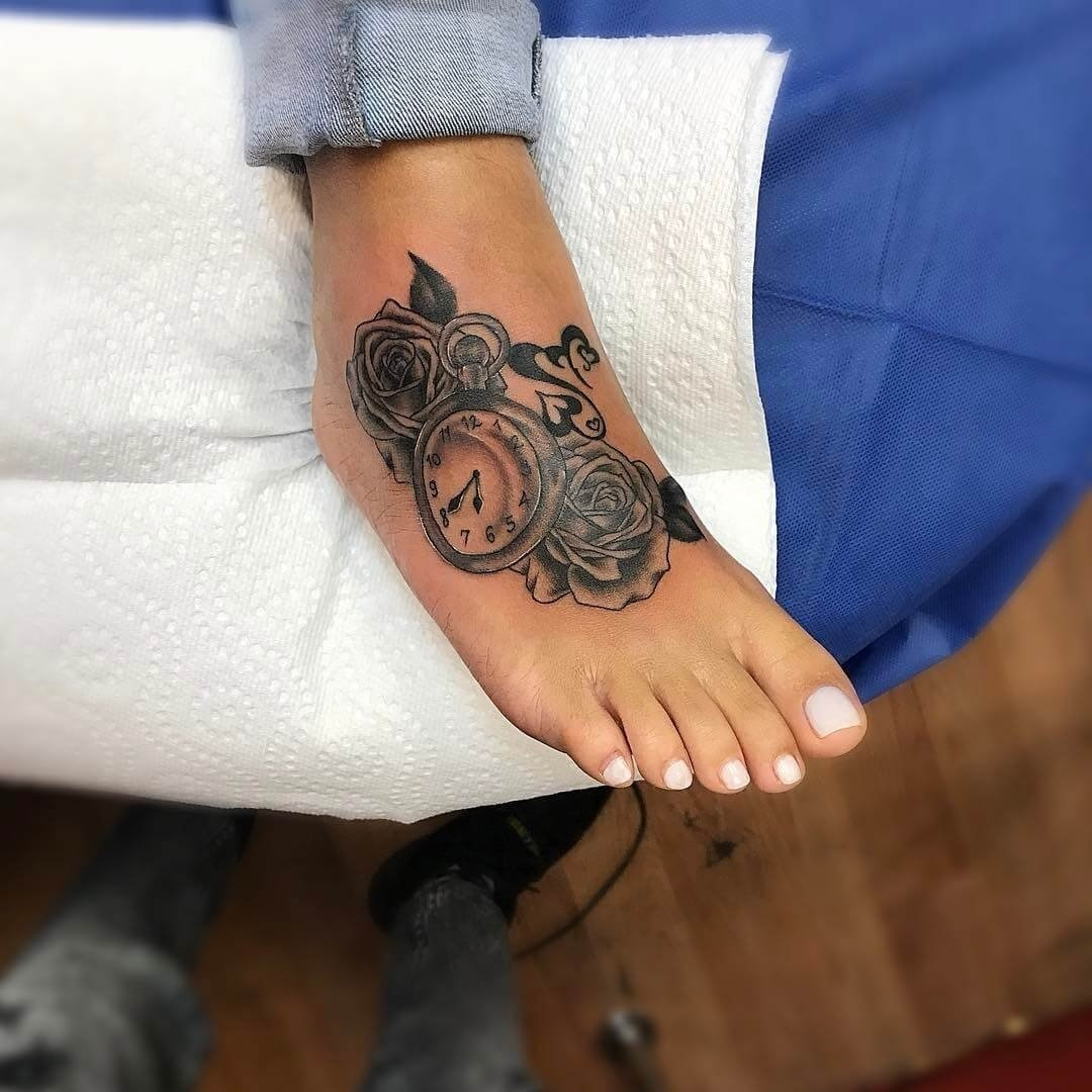 10 Perfect Tattoo Ideas For The Foot foot tattoo ideas chhory tattoo 1 2021