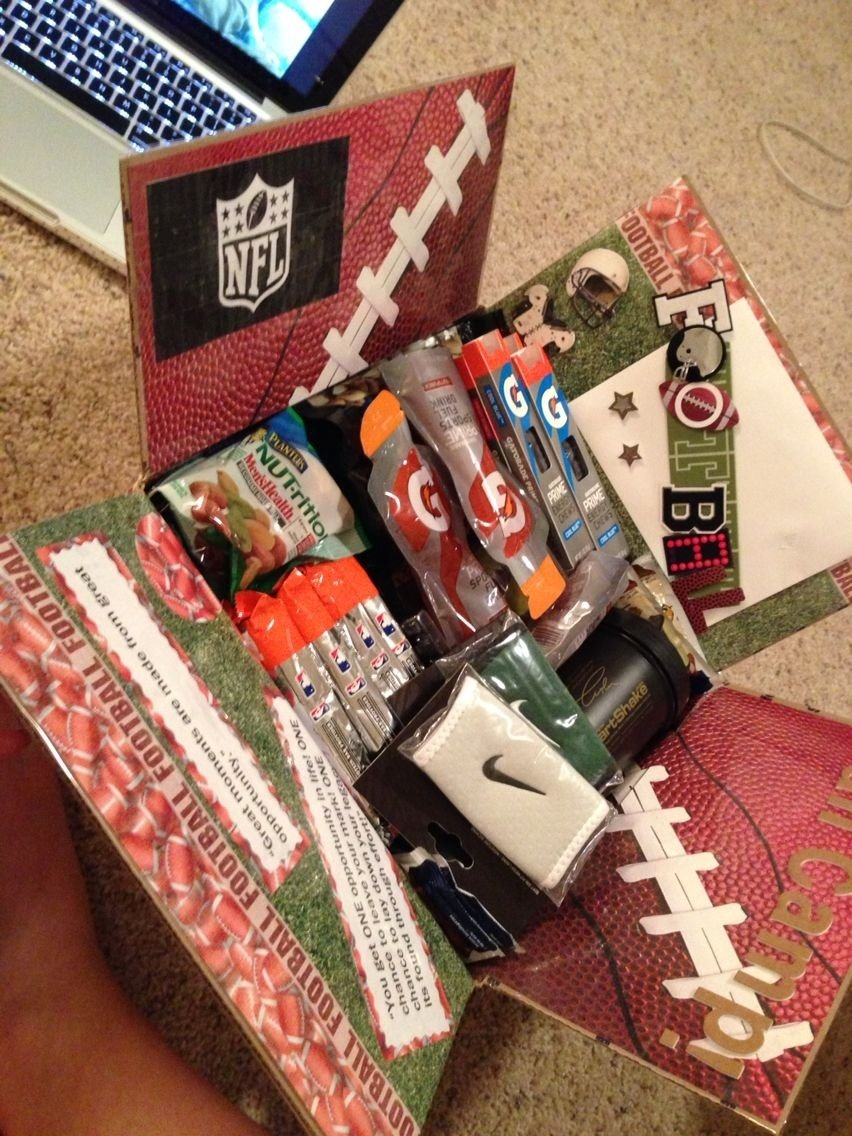 10 Gorgeous Cute Care Package Ideas For Boyfriend football camp care package pinteres 2020