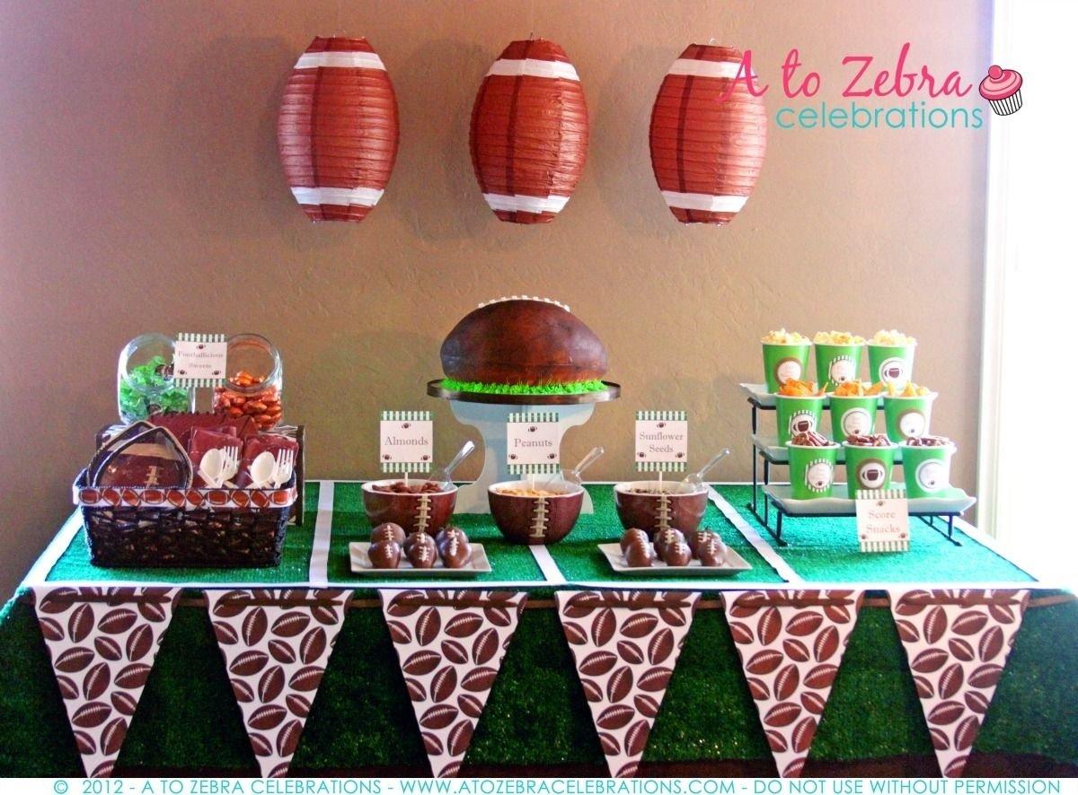 10 Elegant Fantasy Football Draft Party Ideas football desserts table http atozebracelebrations 2012 09 2020
