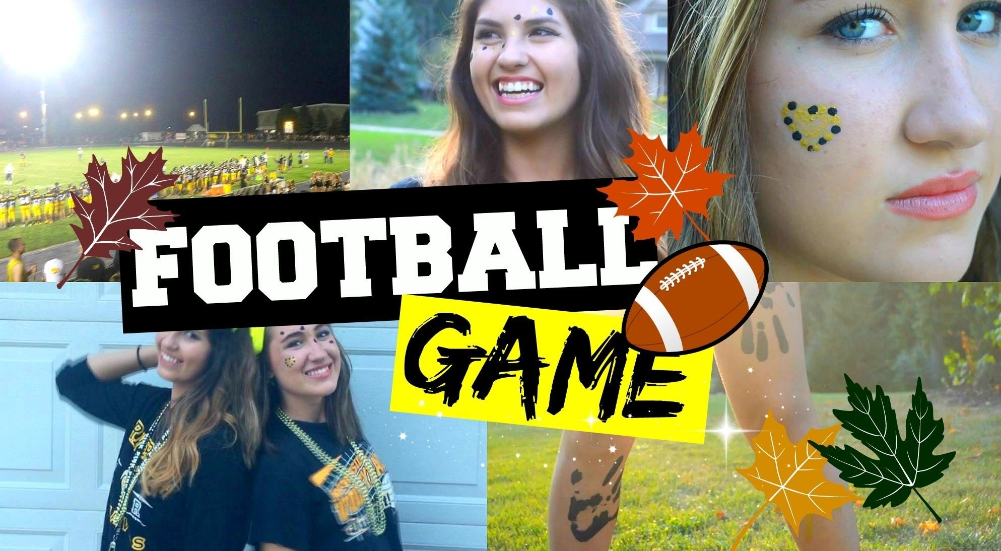 football game: makeup, outfits, easy facepaint ideas + how to style