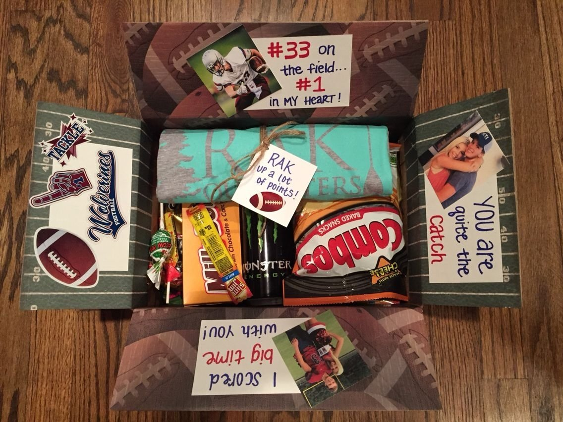 football player goodie bag / football care package / secret