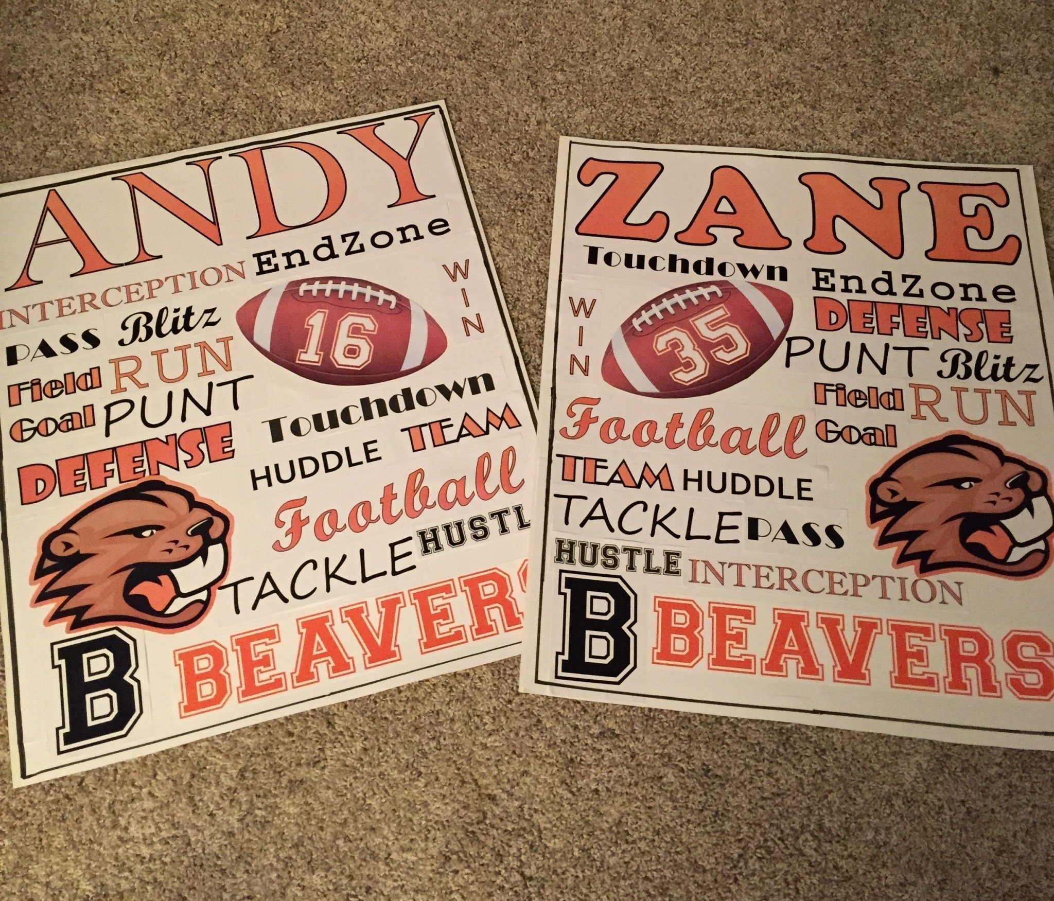 football posters, cheer, high school, beaver, beaverton, cheerleader