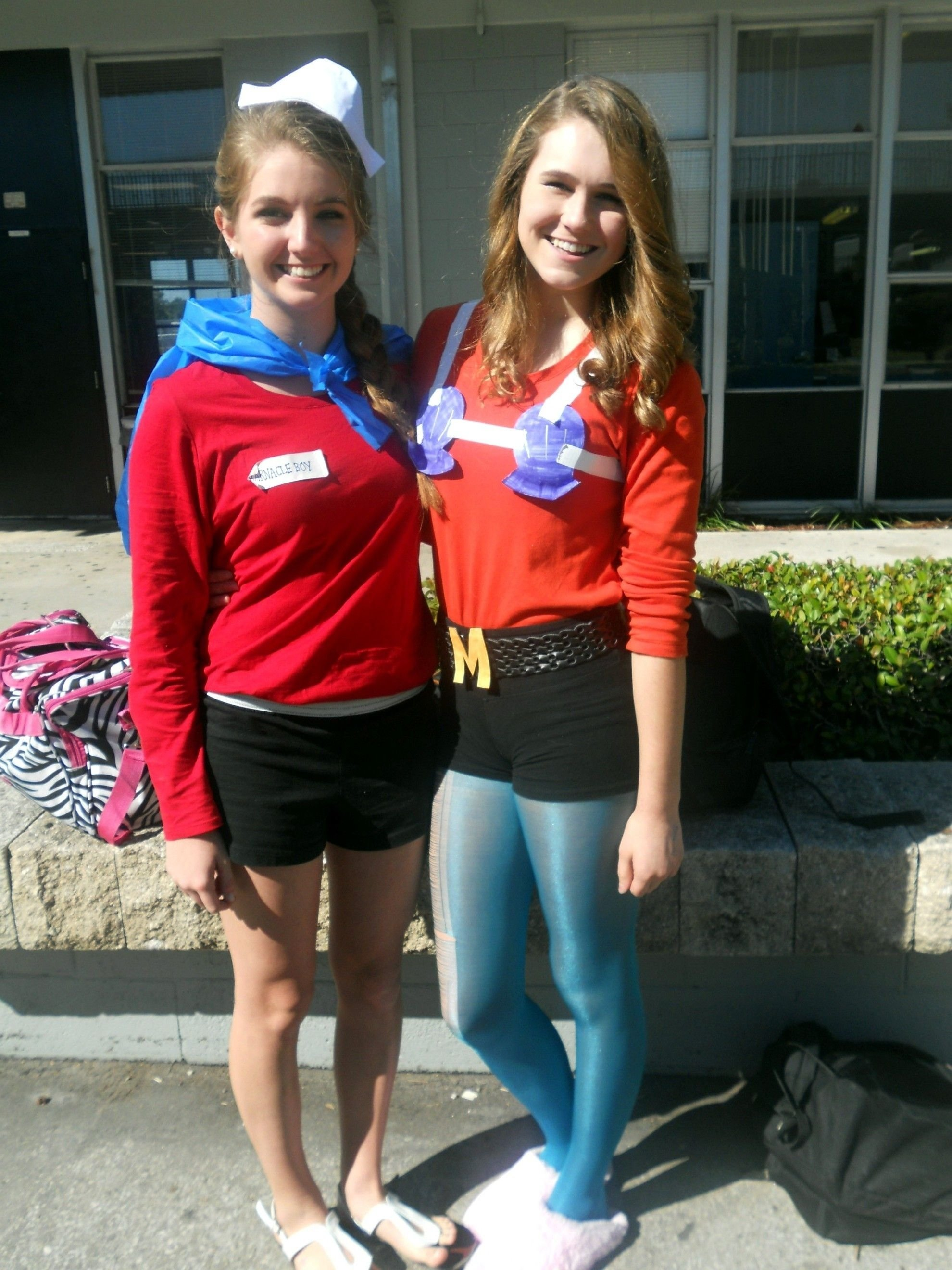 10 Ideal High School Halloween Costume Ideas for character day at our school my friend and i came as mermaid man 3 2021