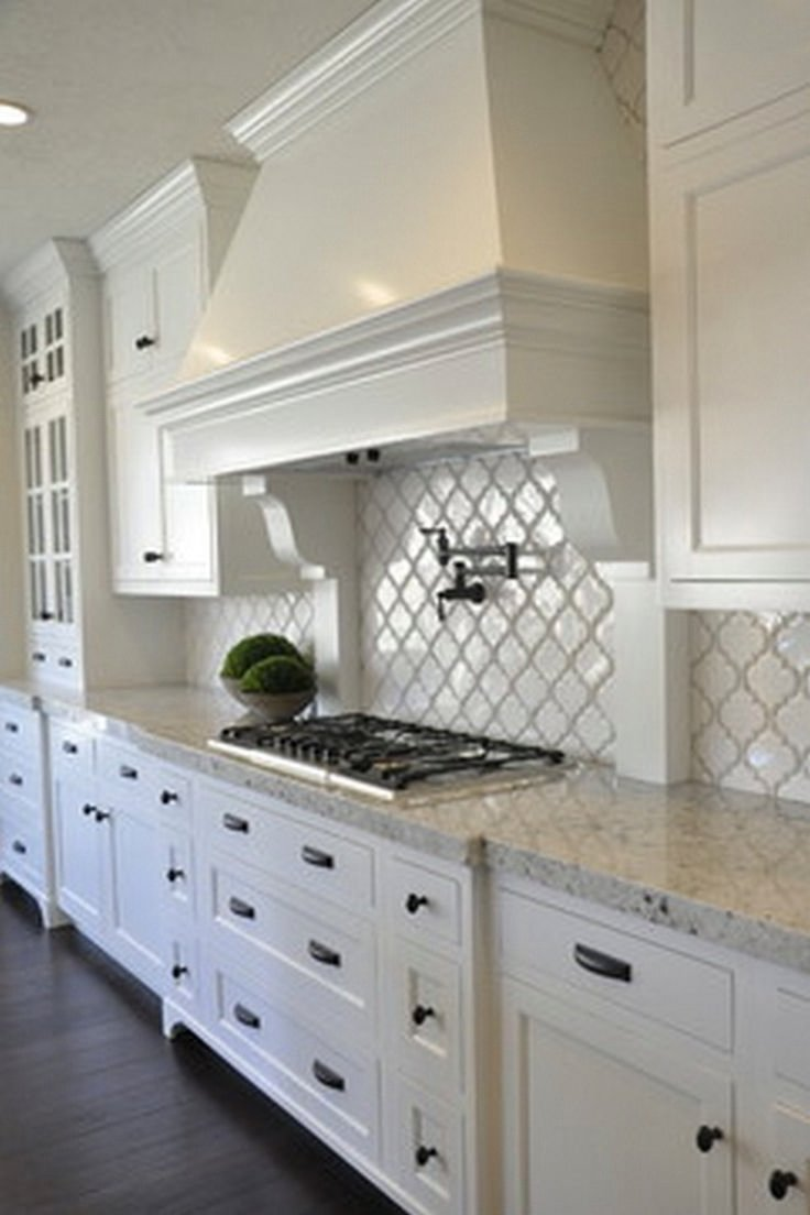 10 Gorgeous Kitchen Ideas With White Cabinets for white trendy cabinet walls and glass painting doors floo kitchen 2020