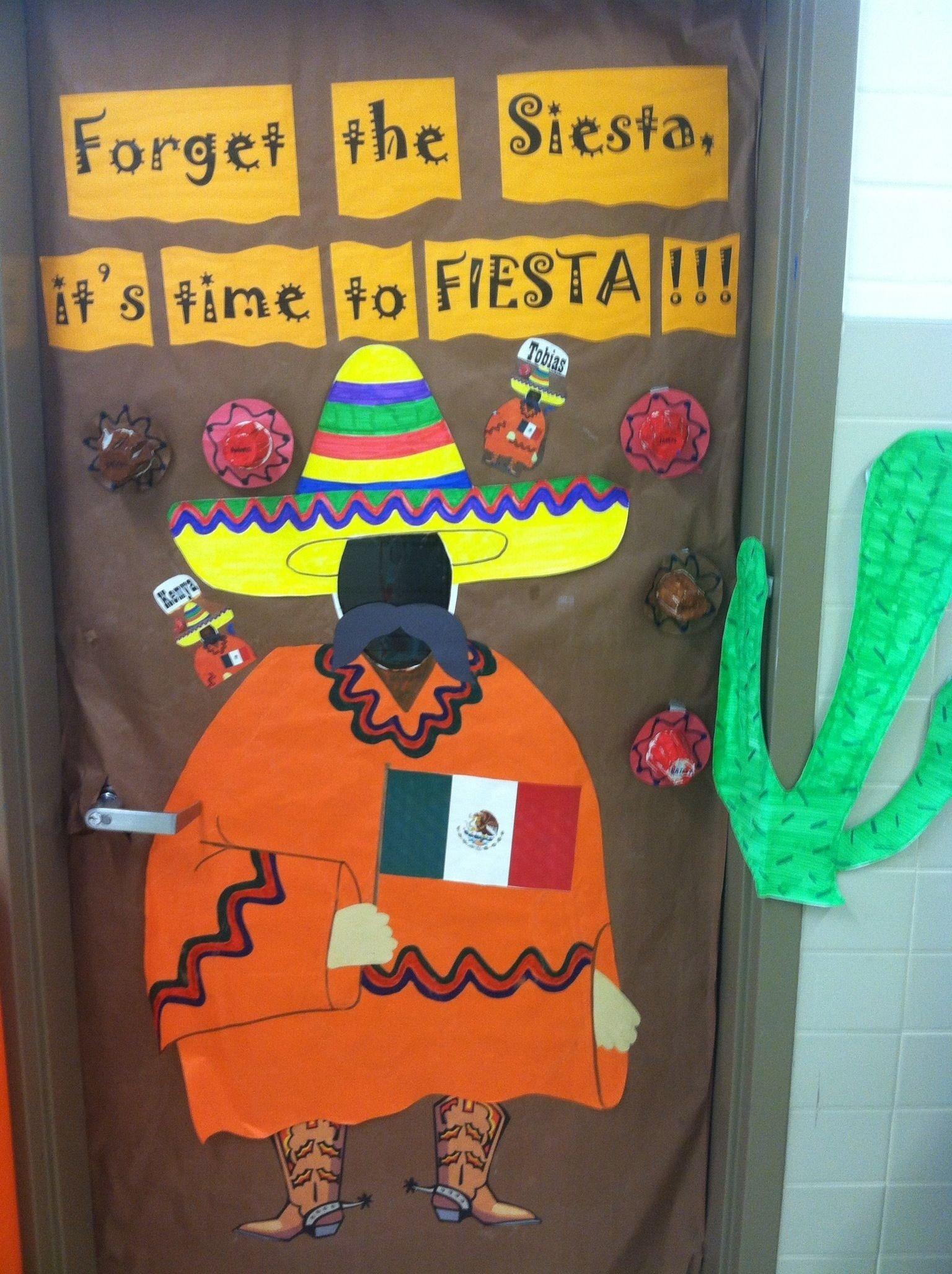 10 Fabulous Cinco De Mayo Bulletin Board Ideas forget the siesta its time to fiesta classroom door mexico 2020