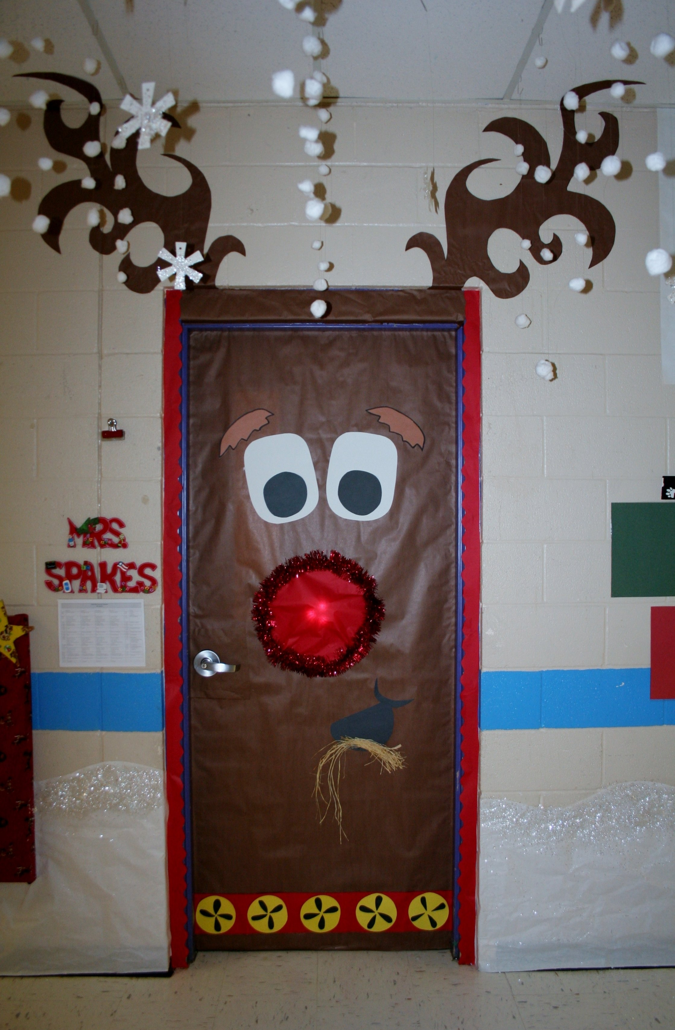 10 Gorgeous Classroom Christmas Door Decorating Contest Ideas fouke kindergarten rudolph classroom door pinteres 3 2020
