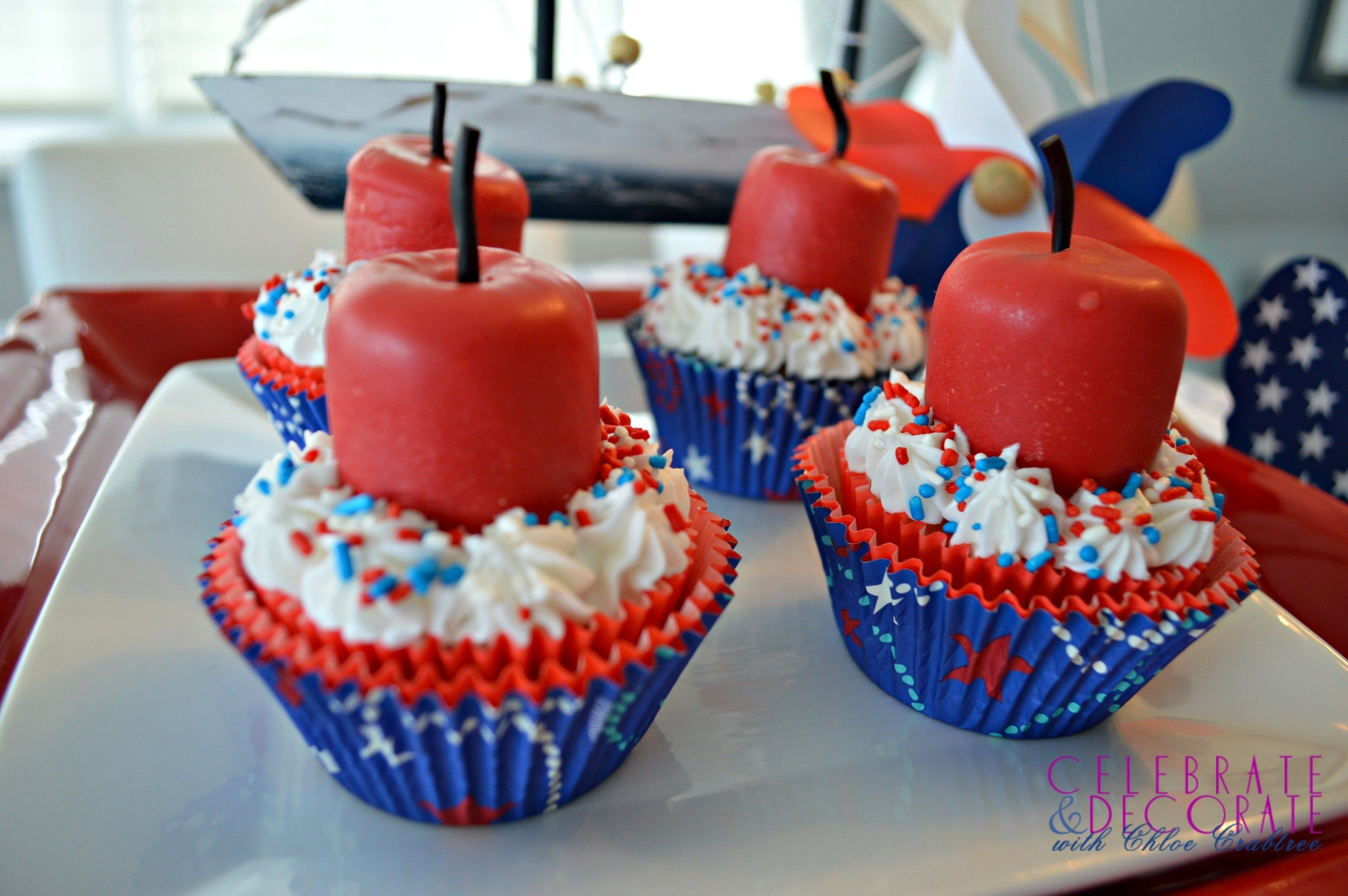 10 Elegant Fourth Of July Cupcake Ideas fourth of july firecracker cupcakes celebrate decorate 2020
