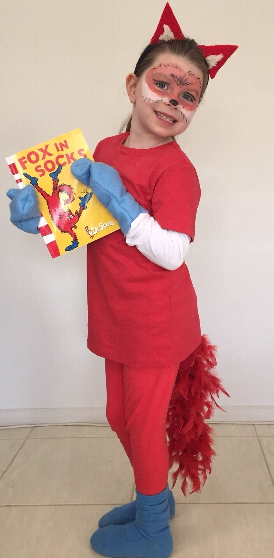 10 Stylish Easy Dr Seuss Costume Ideas fox in socks costume more dr suess character costumes pinterest 2020