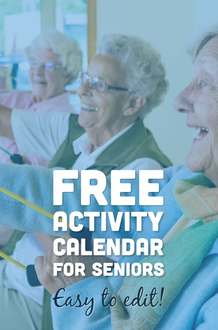 free activity calendar for seniors | dementia activities | elderly